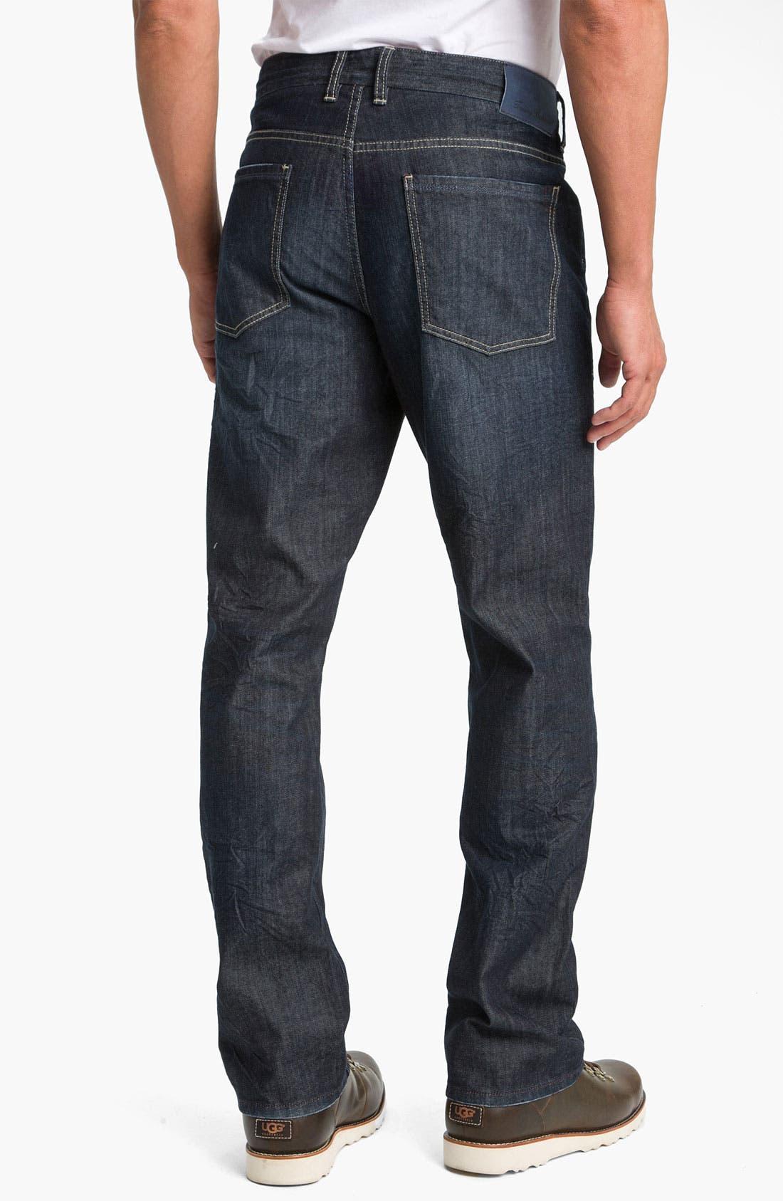 Alternate Image 2  - Tommy Bahama Denim 'Antonio' Authentic Straight Leg Jeans (Crinkle Dark)