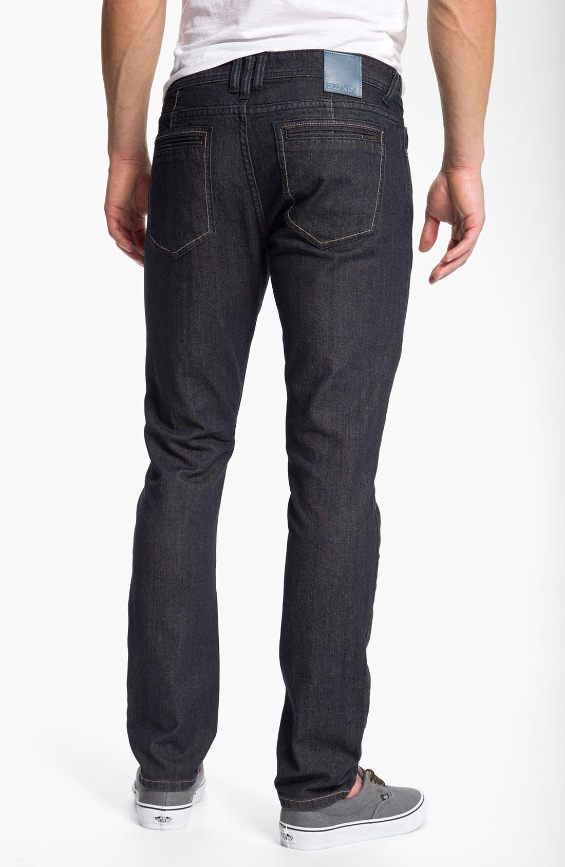 Alternate Image 1 Selected - Ezekiel 'Chopper 305' Slouchy Slim Fit Jeans (Light Raw Indigo)