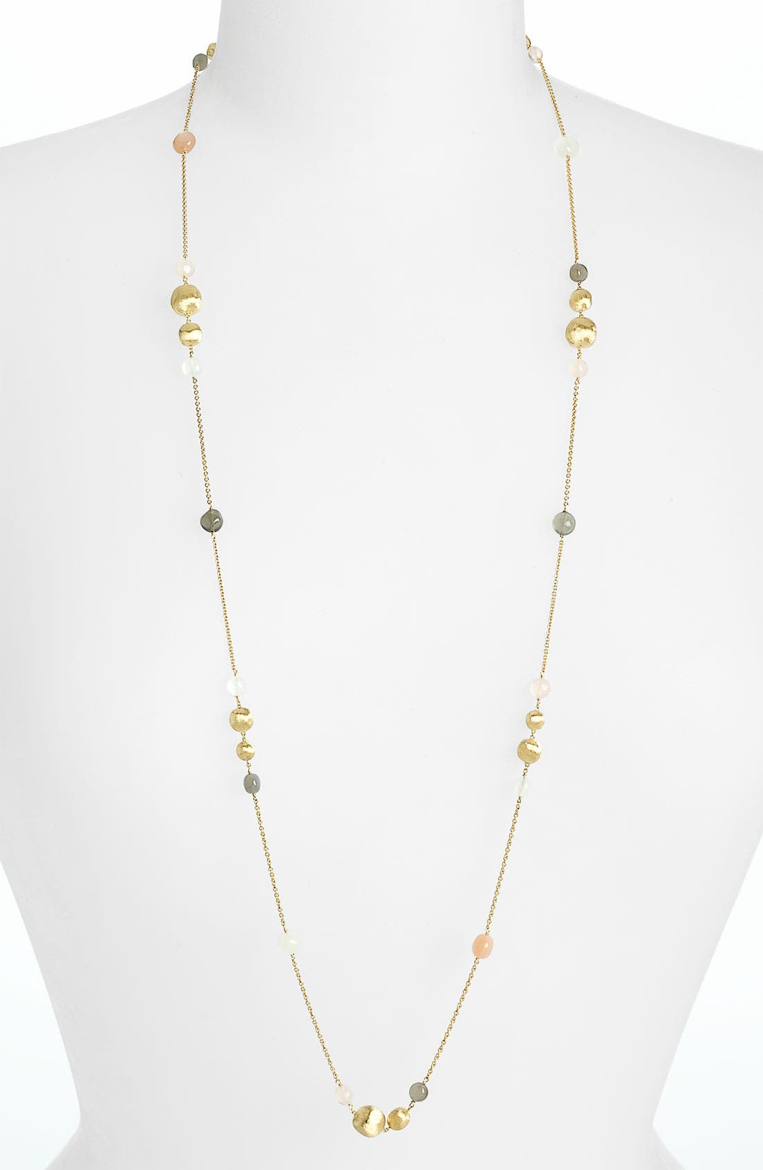 Alternate Image 1 Selected - Marco Bicego 'Africa Day' Wave Moonstone Long Strand (Nordstrom Exclusive)
