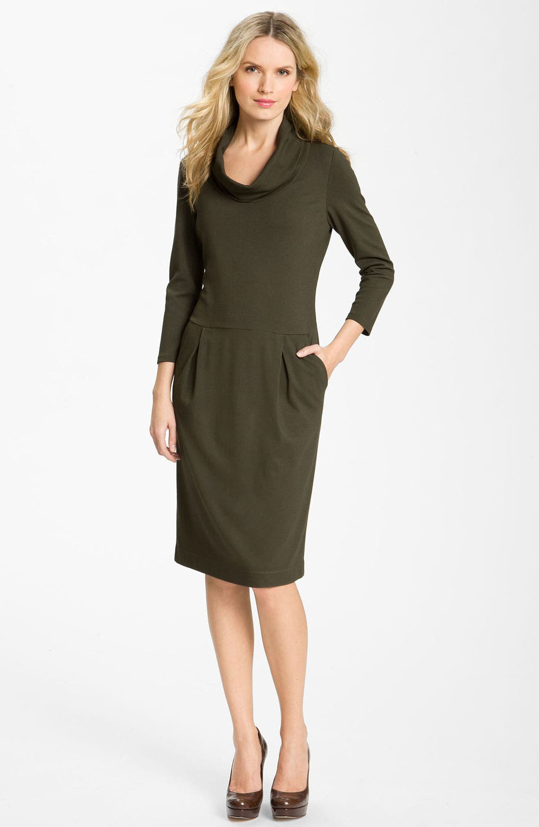 Main Image - Lafayette 148 New York 'Milano' Cowl Neck Dress