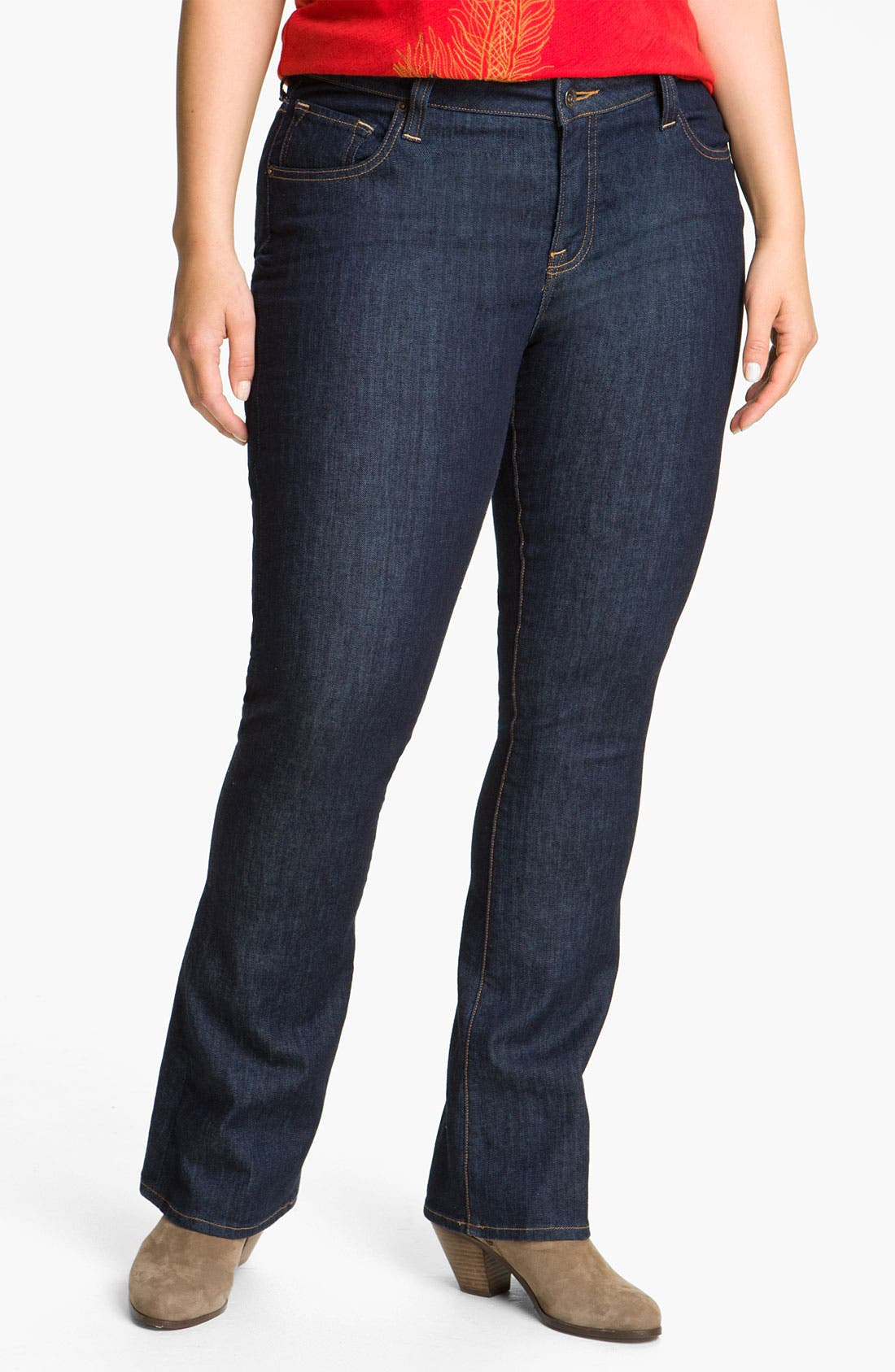 Alternate Image 1 Selected - Lucky Brand 'Ginger' Bootcut Jeans (Plus Size)