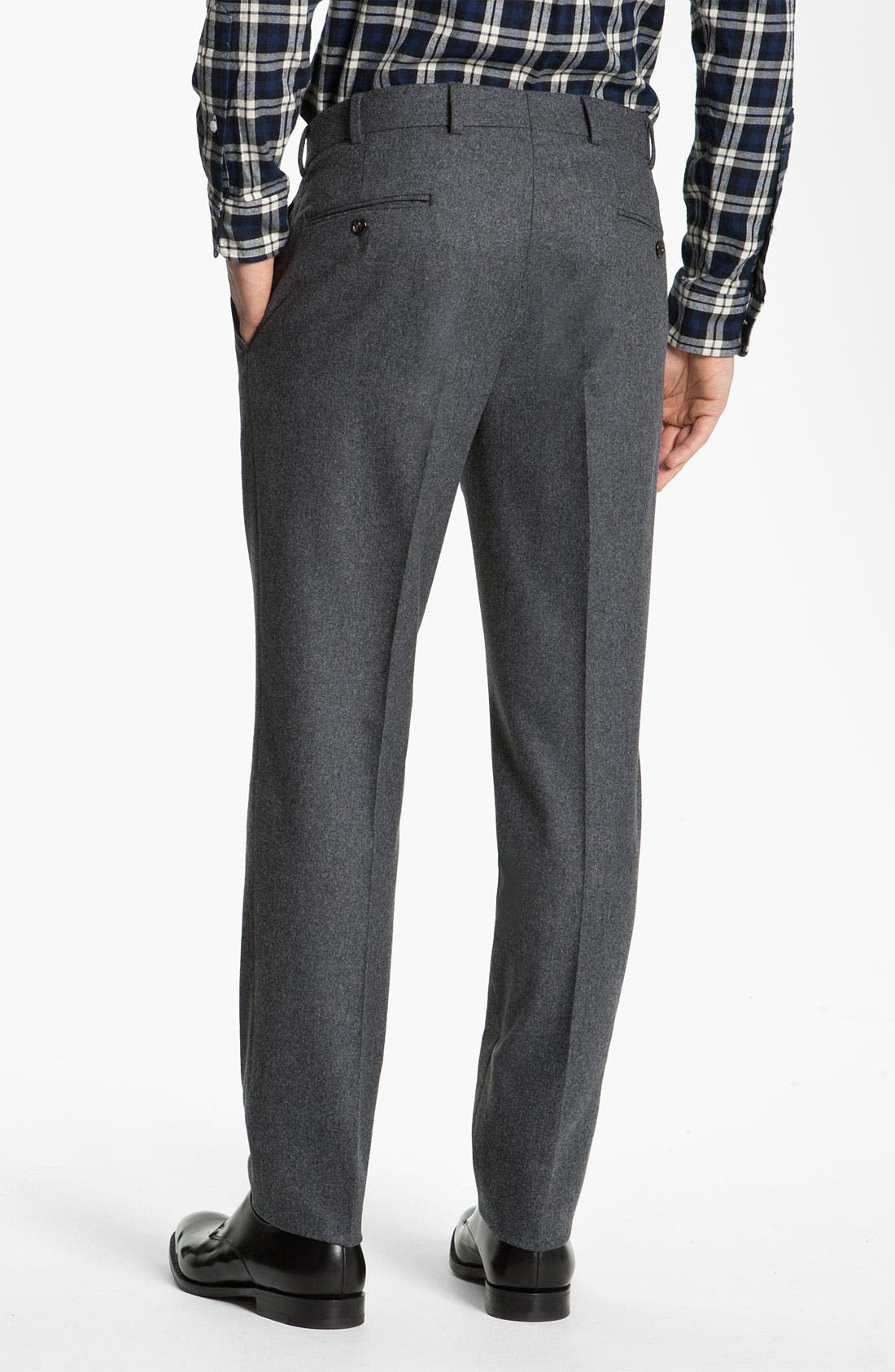 Alternate Image 2  - Brooks Brothers by Jeffrey Wool Trousers