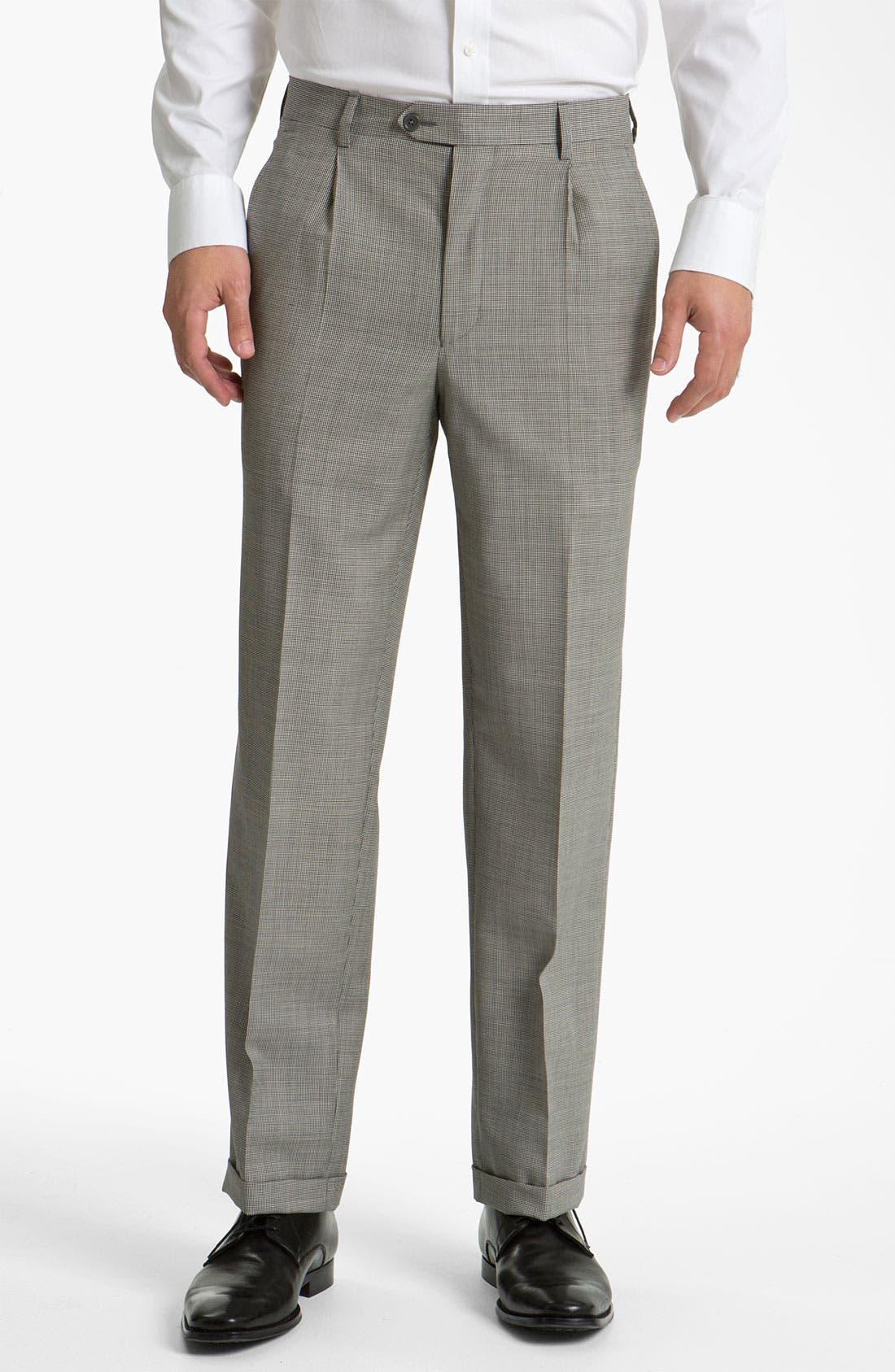 Alternate Image 1 Selected - Santorelli Single Pleat Trousers