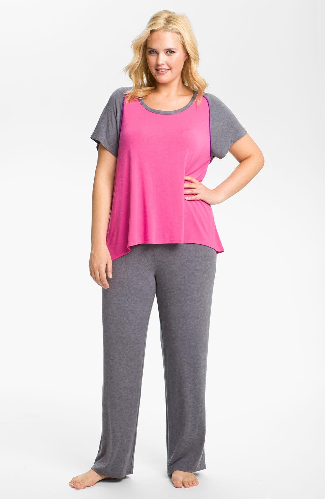 Alternate Image 1 Selected - DKNY 'Standout' Pajamas (Plus)
