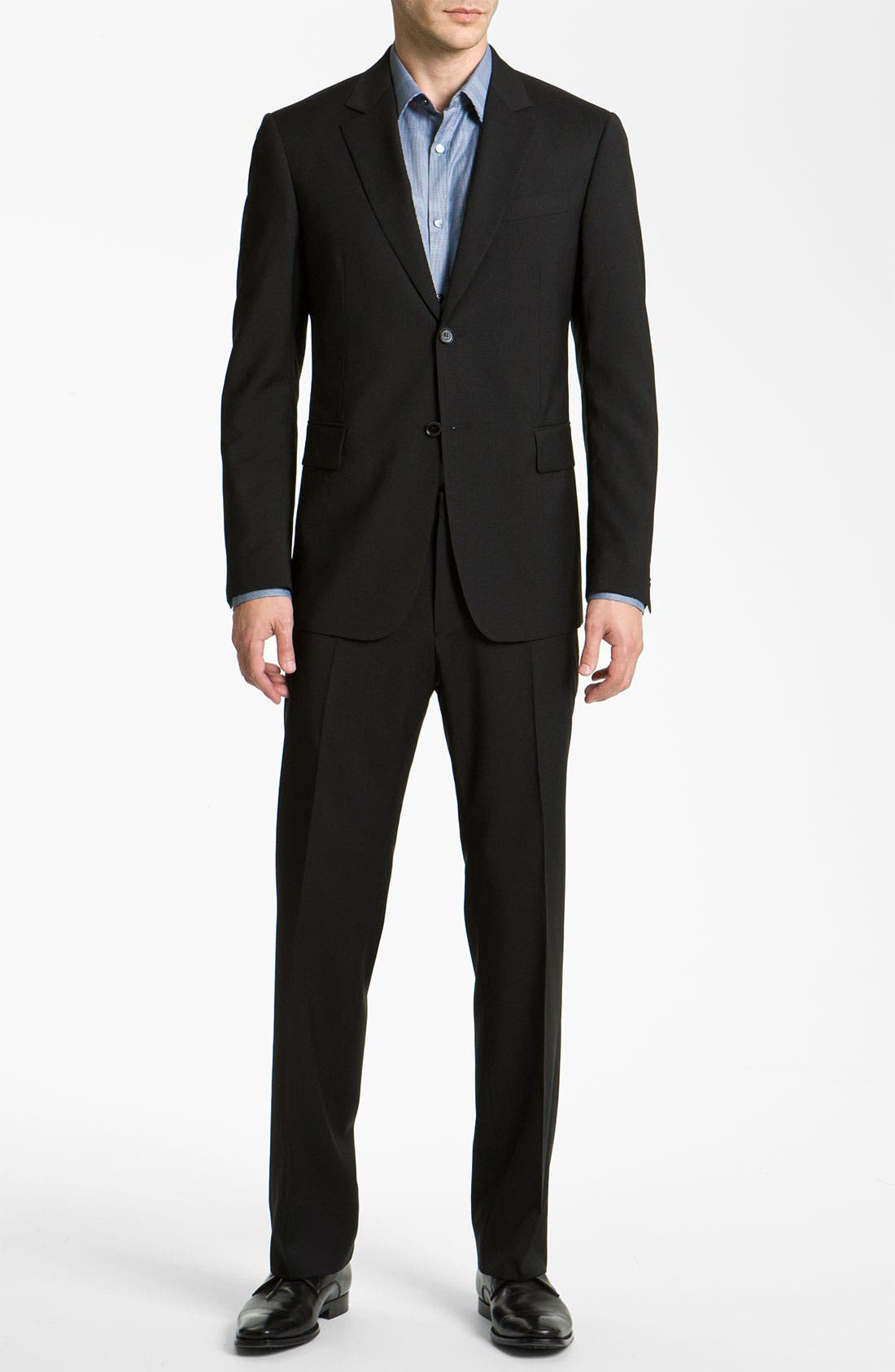 Alternate Image 2  - Burberry Trim Fit Wool Suit
