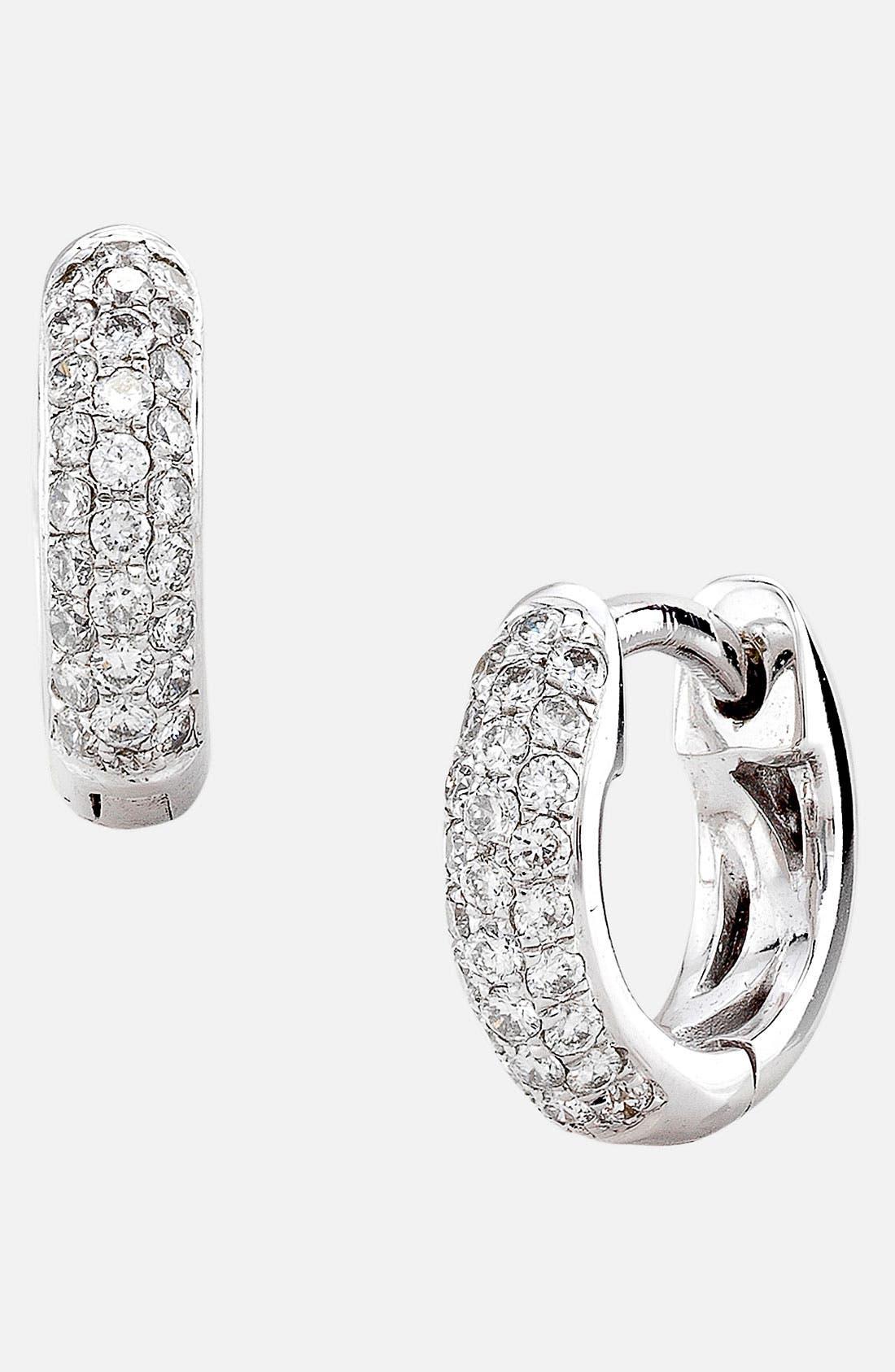 Main Image - Bony Levy 3-Row Pavé Diamond Hoop Earrings (Nordstrom Exclusive)