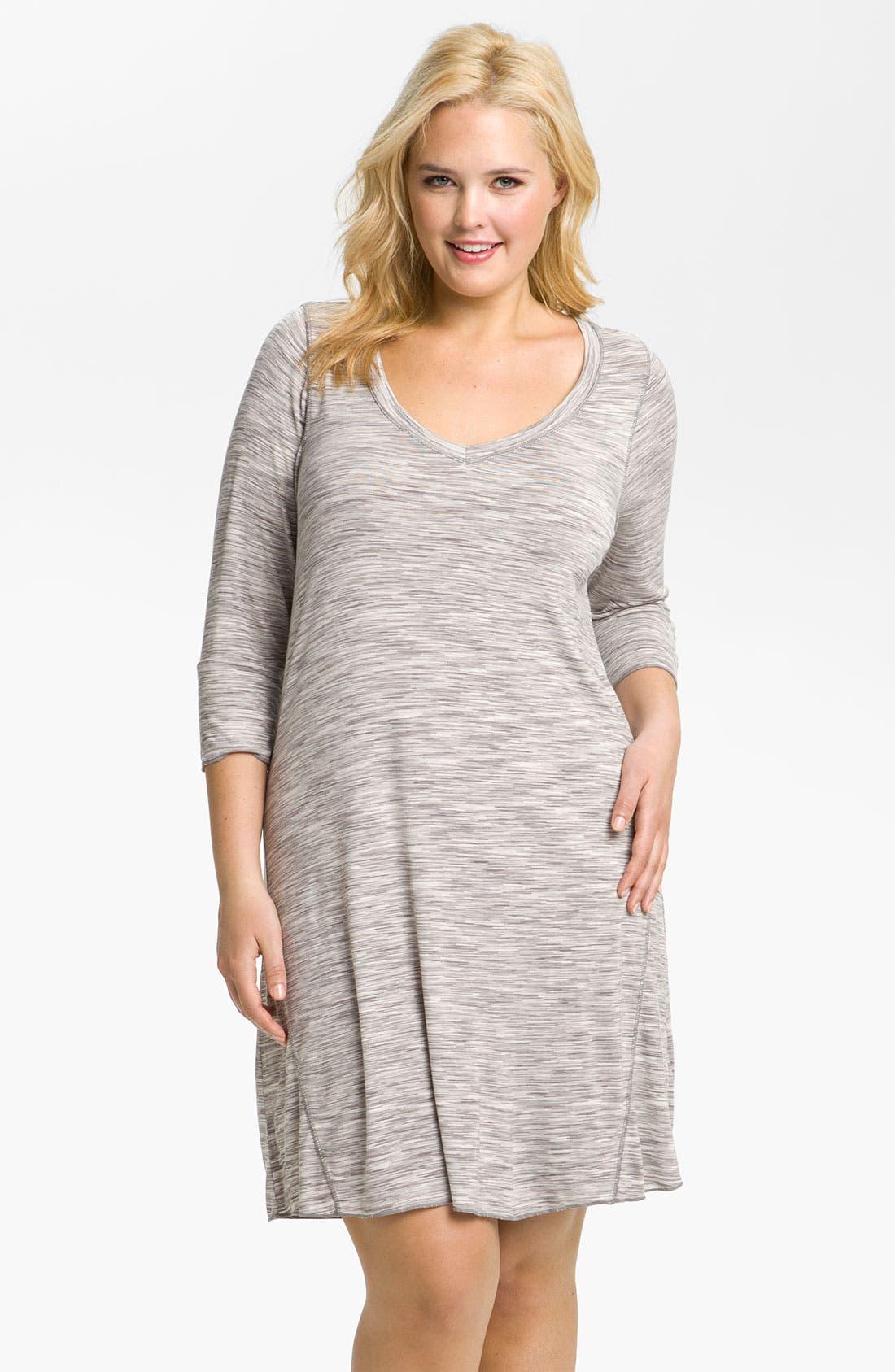 Main Image - Hue Space Dye Sleep Shirt (Plus)