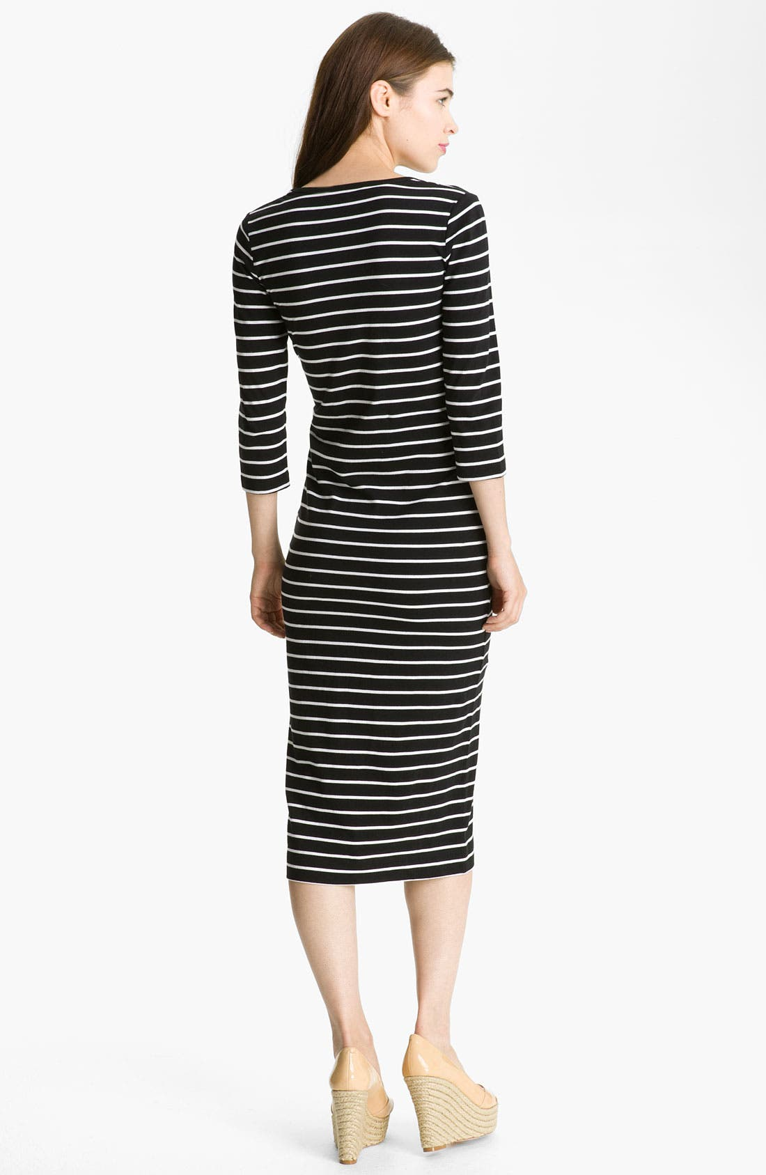 Alternate Image 2  - French Connection Stripe Midi Cotton Dress