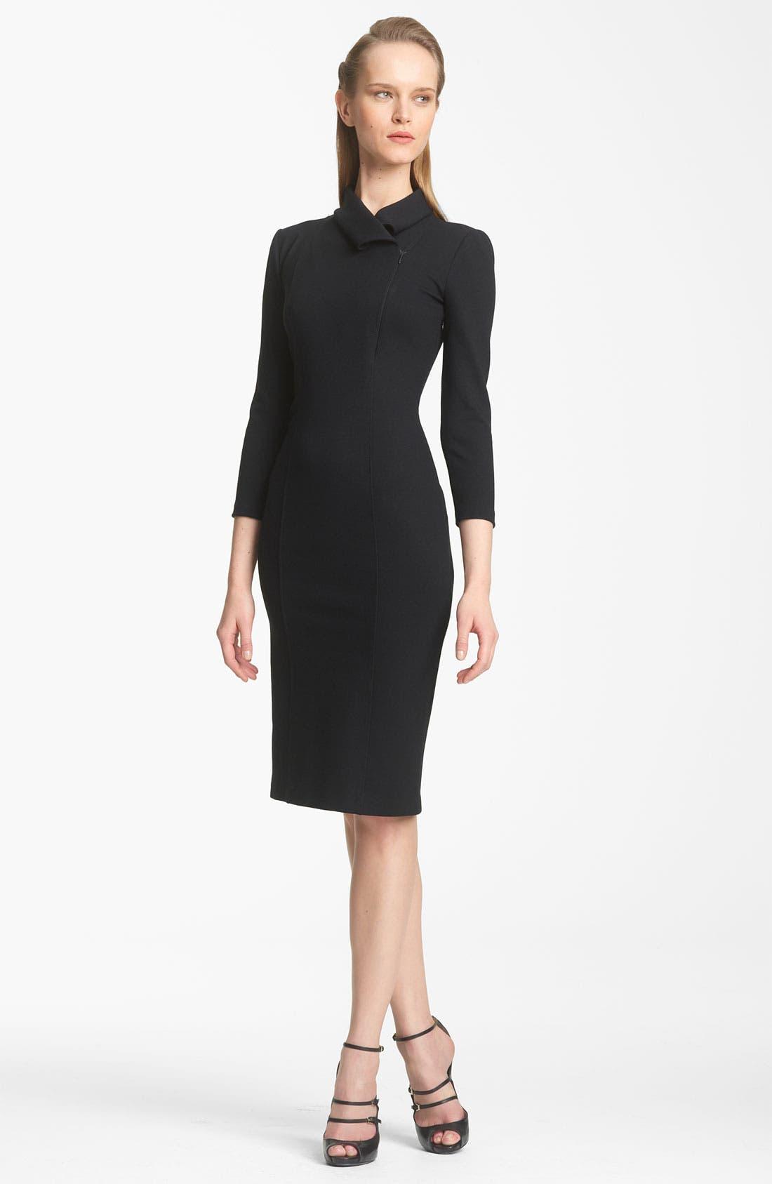 Main Image - Armani Collezioni Zip Detail Jersey Dress