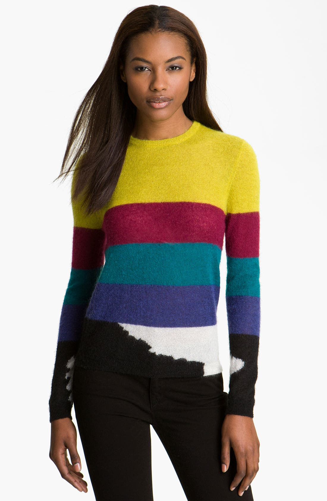 Alternate Image 1 Selected - Carven Stripe Mohair Pullover