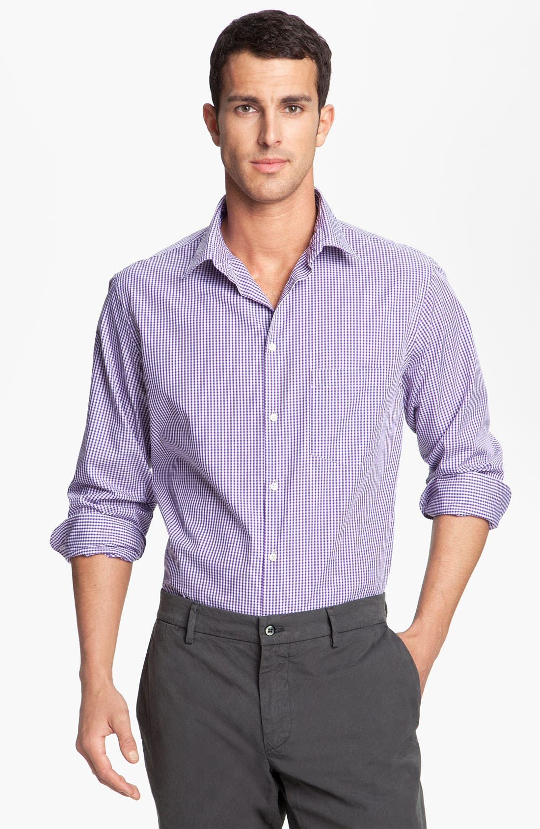 Alternate Image 1 Selected - Mason's Micro Gingham Cotton Shirt