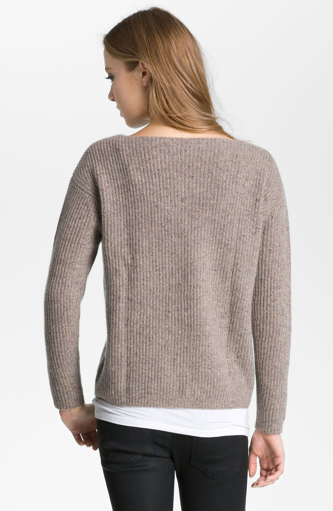 Alternate Image 2  - autumn cashmere Ribbed Pullover Sweater