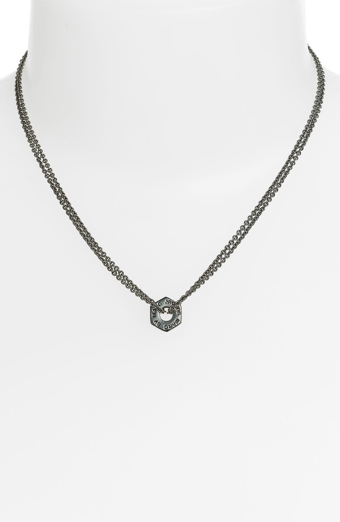 Alternate Image 1 Selected - MARC BY MARC JACOBS 'Bolts' Pendant Necklace