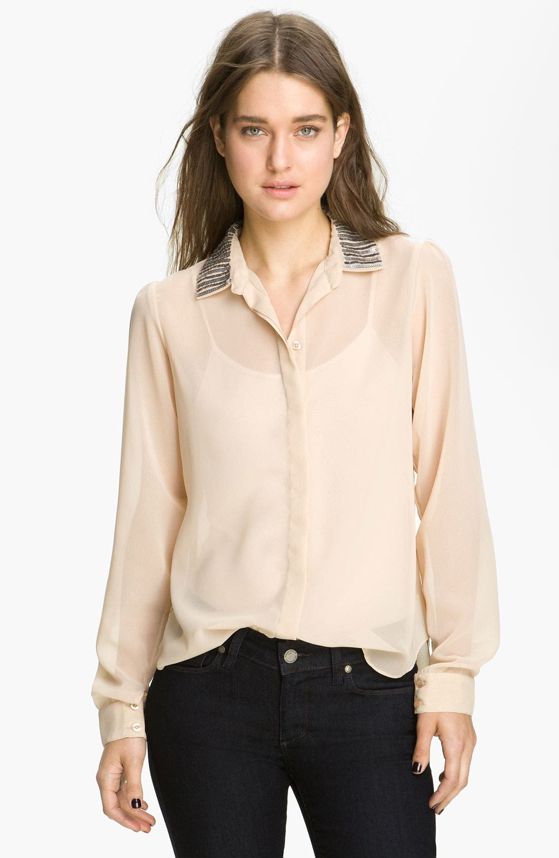 Alternate Image 1 Selected - Sanctuary Embellished Collar Shirt