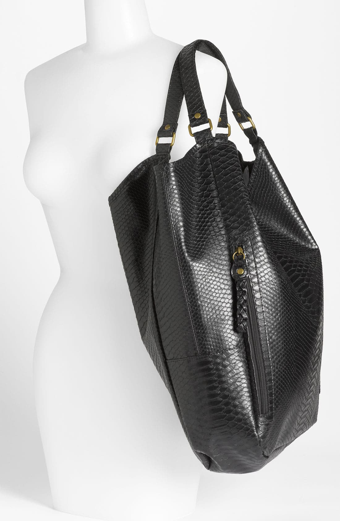Alternate Image 2  - Lulu Snake Embossed Tote Bag