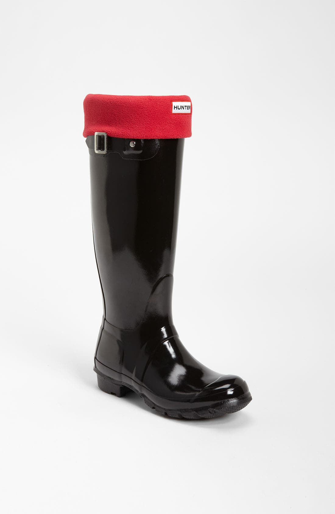 Main Image - Hunter Tall Gloss Rain Boot & Fleece Welly Socks