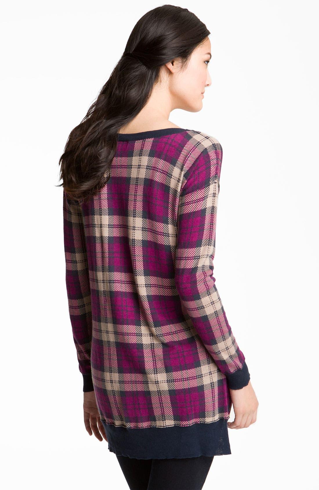 Alternate Image 2  - Trouvé Plaid Tunic Sweater