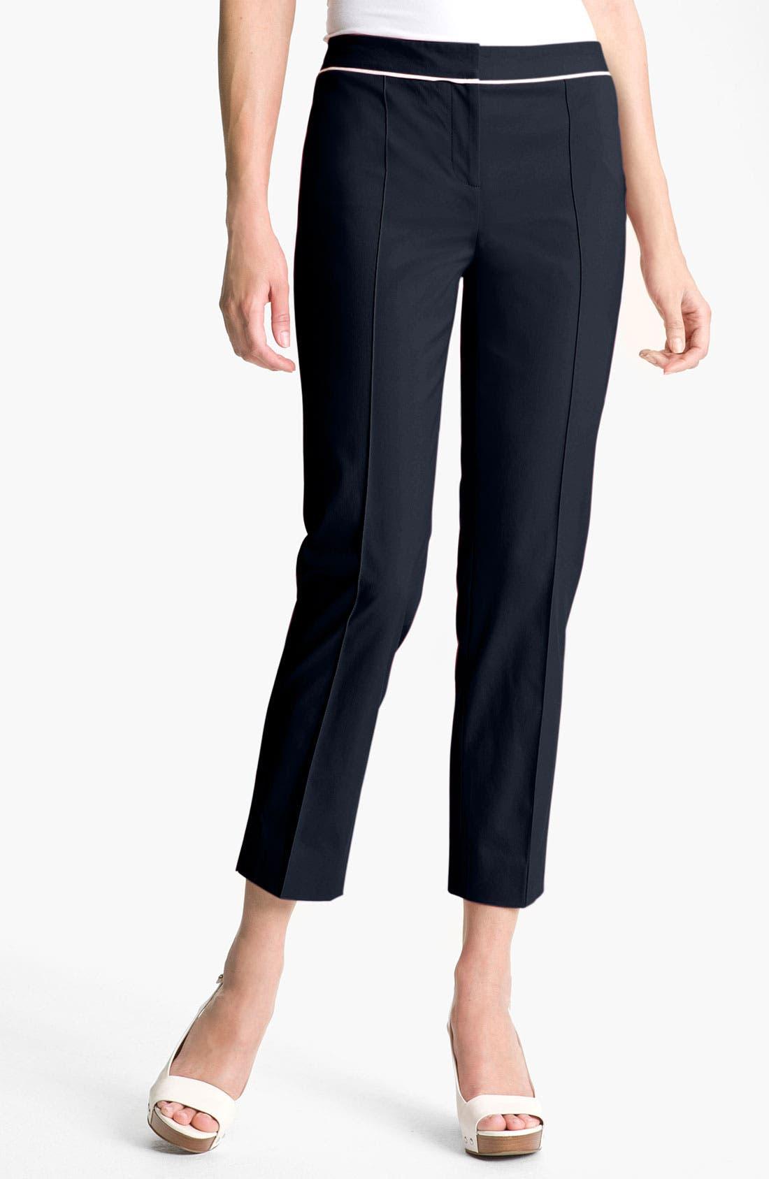 Alternate Image 1 Selected - Classiques Entier® 'Carta Weave' Slim Ankle Pants