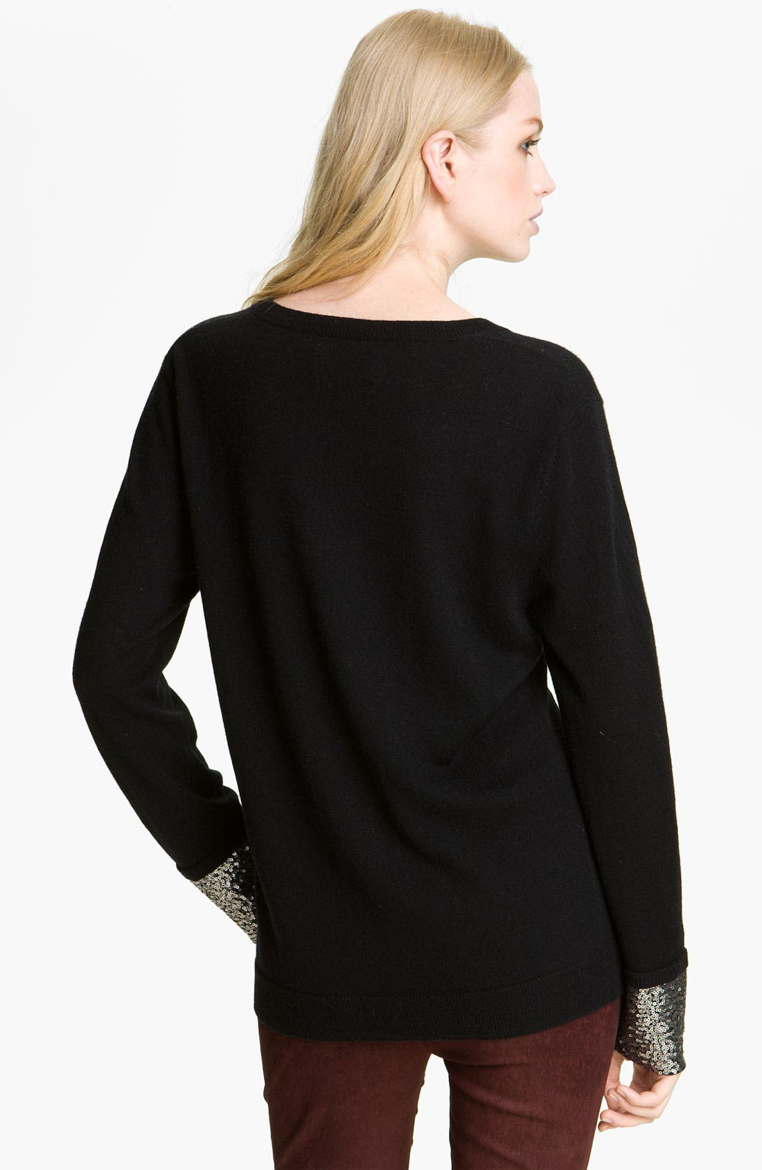 Alternate Image 2  - Zadig & Voltaire 'Cygne' Sequin Cuff Sweater