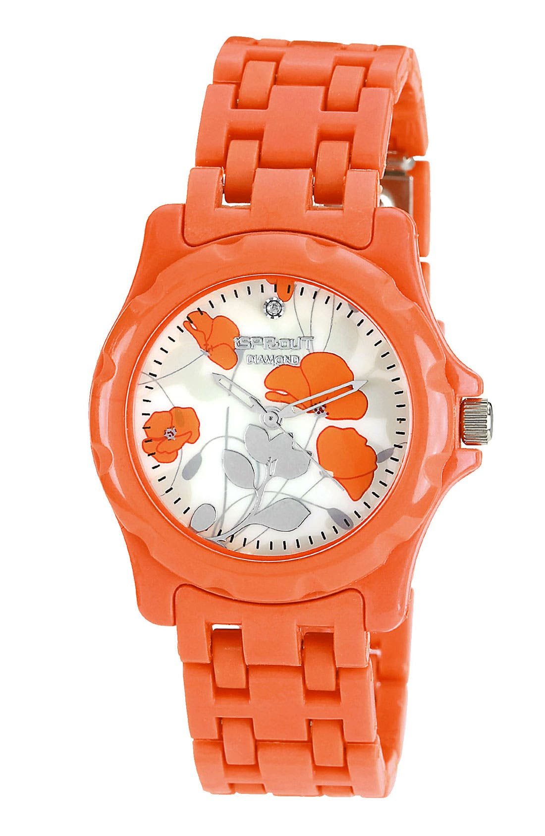Main Image - SPROUT™ Watches Floral Dial Bracelet Watch