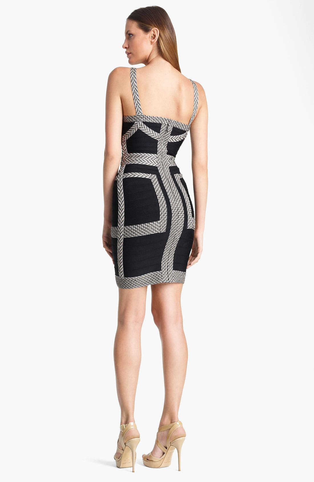 Alternate Image 2  - Herve Leger Jacquard Bandage Dress