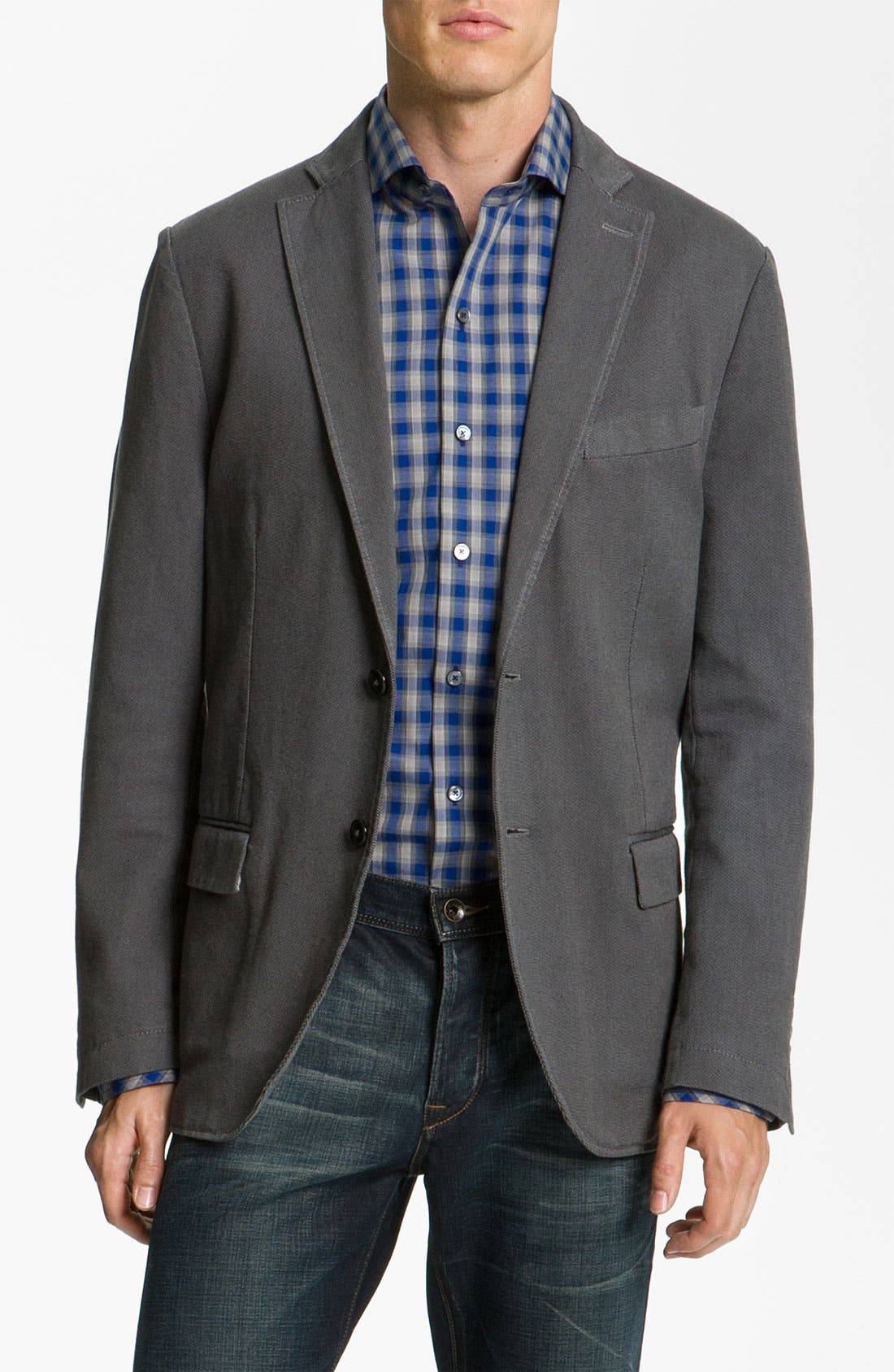 Alternate Image 1 Selected - Zachary Prell Sportcoat, Sport Shirt & John Varvatos Straight Leg Jeans