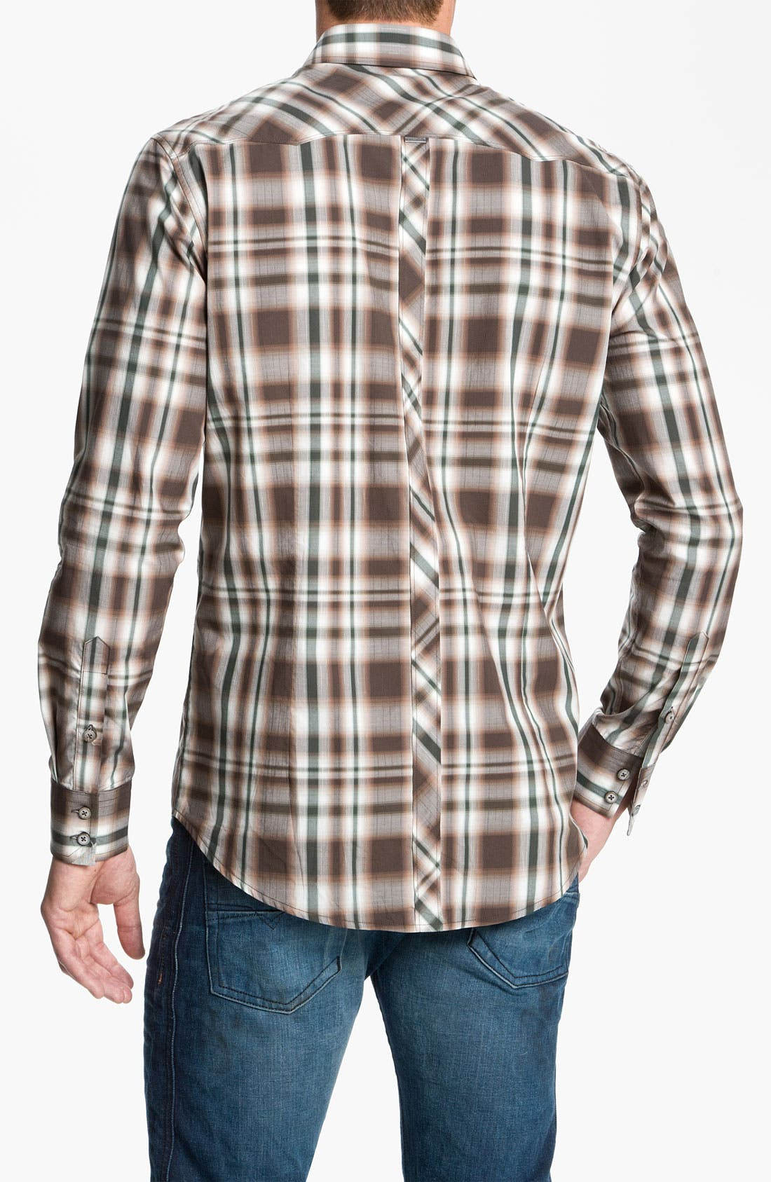 Alternate Image 2  - 7 Diamonds Plaid Woven Shirt