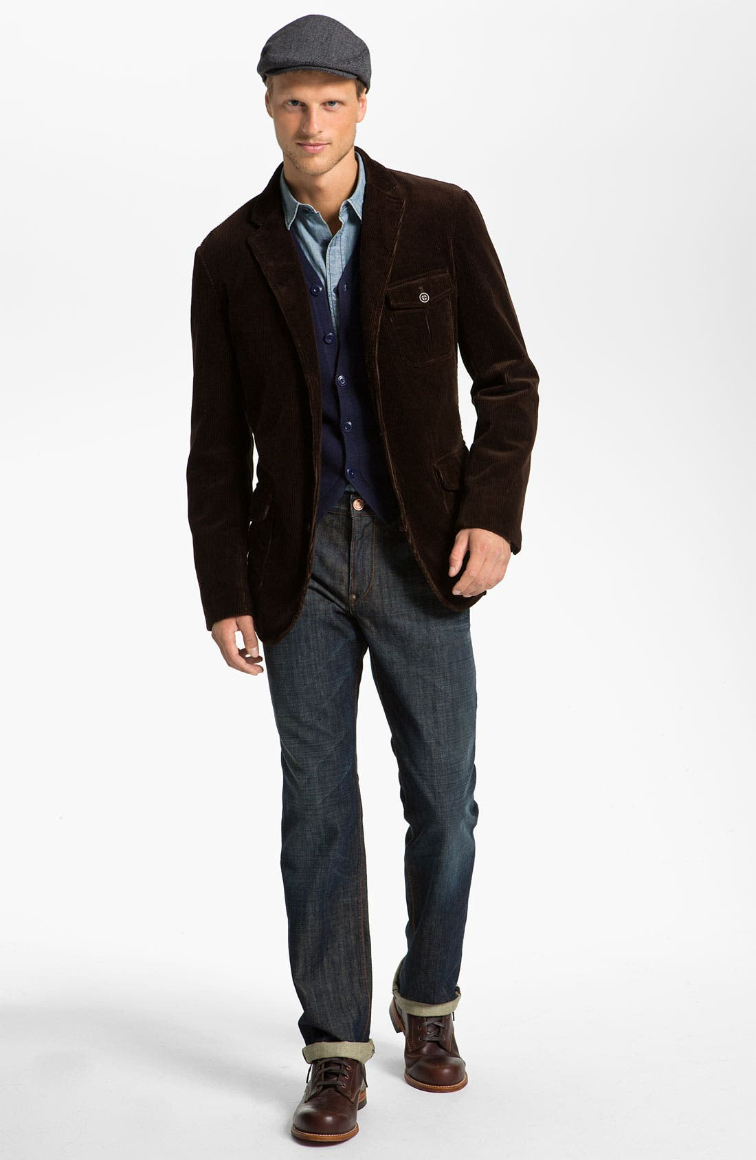 Alternate Image 4  - Façonnable Denim Corduroy Sportcoat