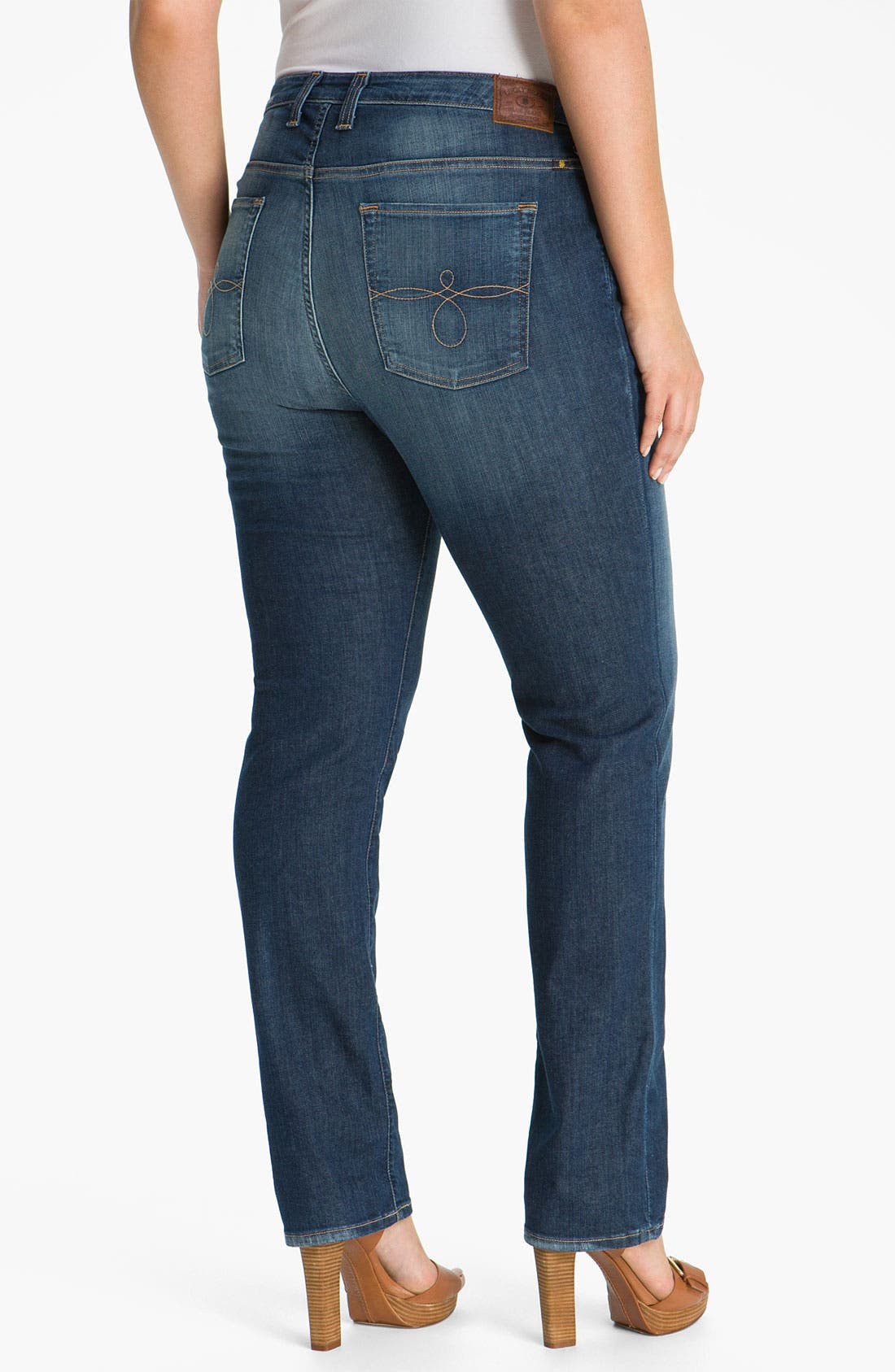 Alternate Image 2  - Lucky Brand 'Ginger' Straight Leg Jeans (Plus Size)