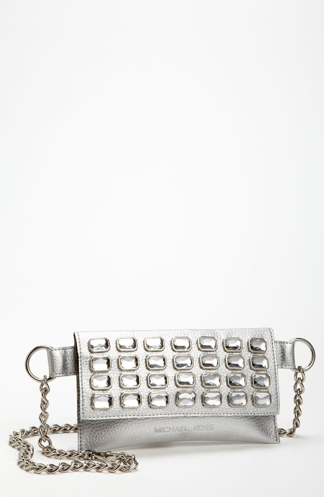 Alternate Image 1 Selected - MICHAEL Michael Kors Chain Belt with Flap Bag