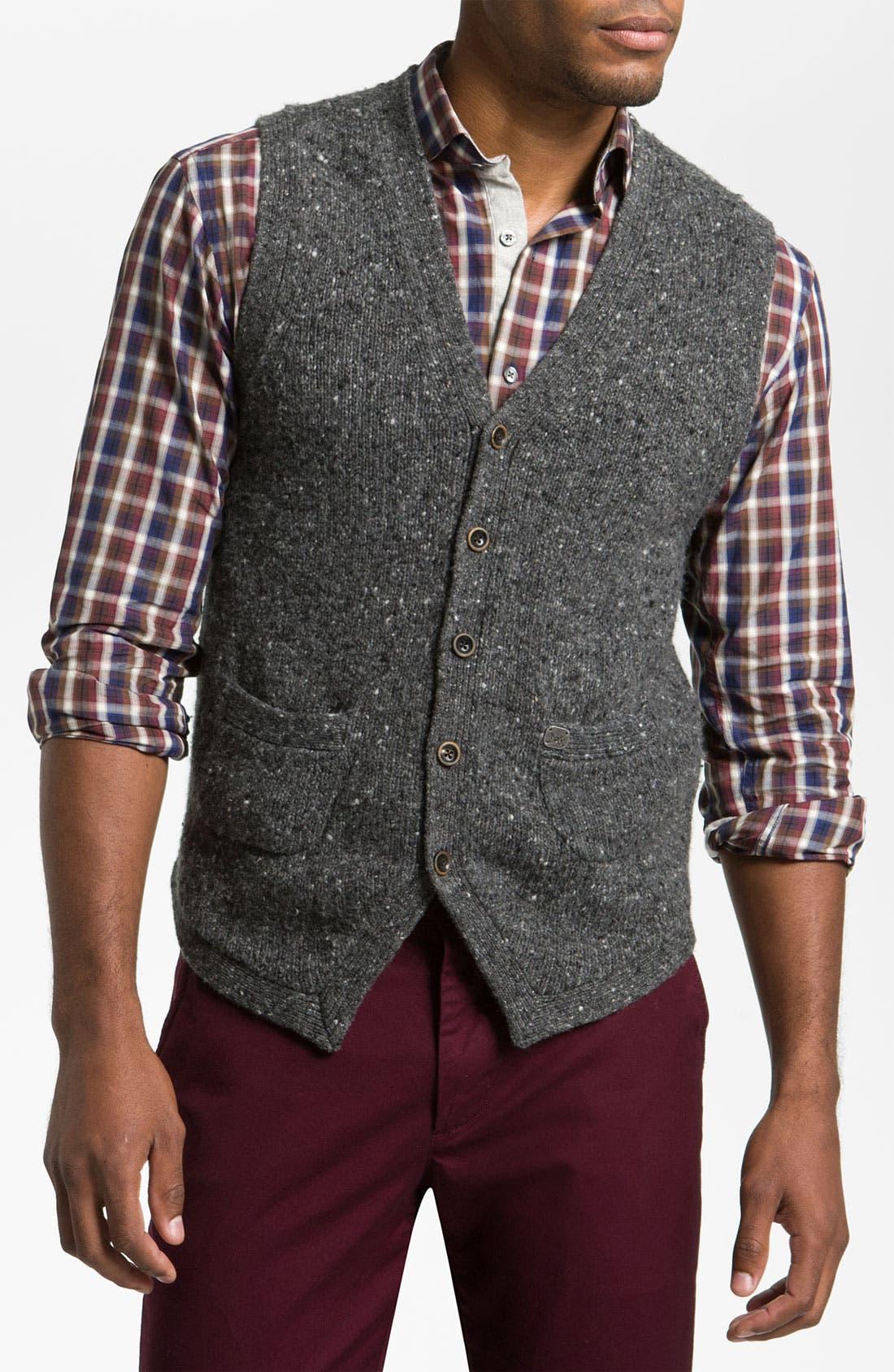 Main Image - Hickey Freeman 'Donegal' Merino Blend Sweater Vest