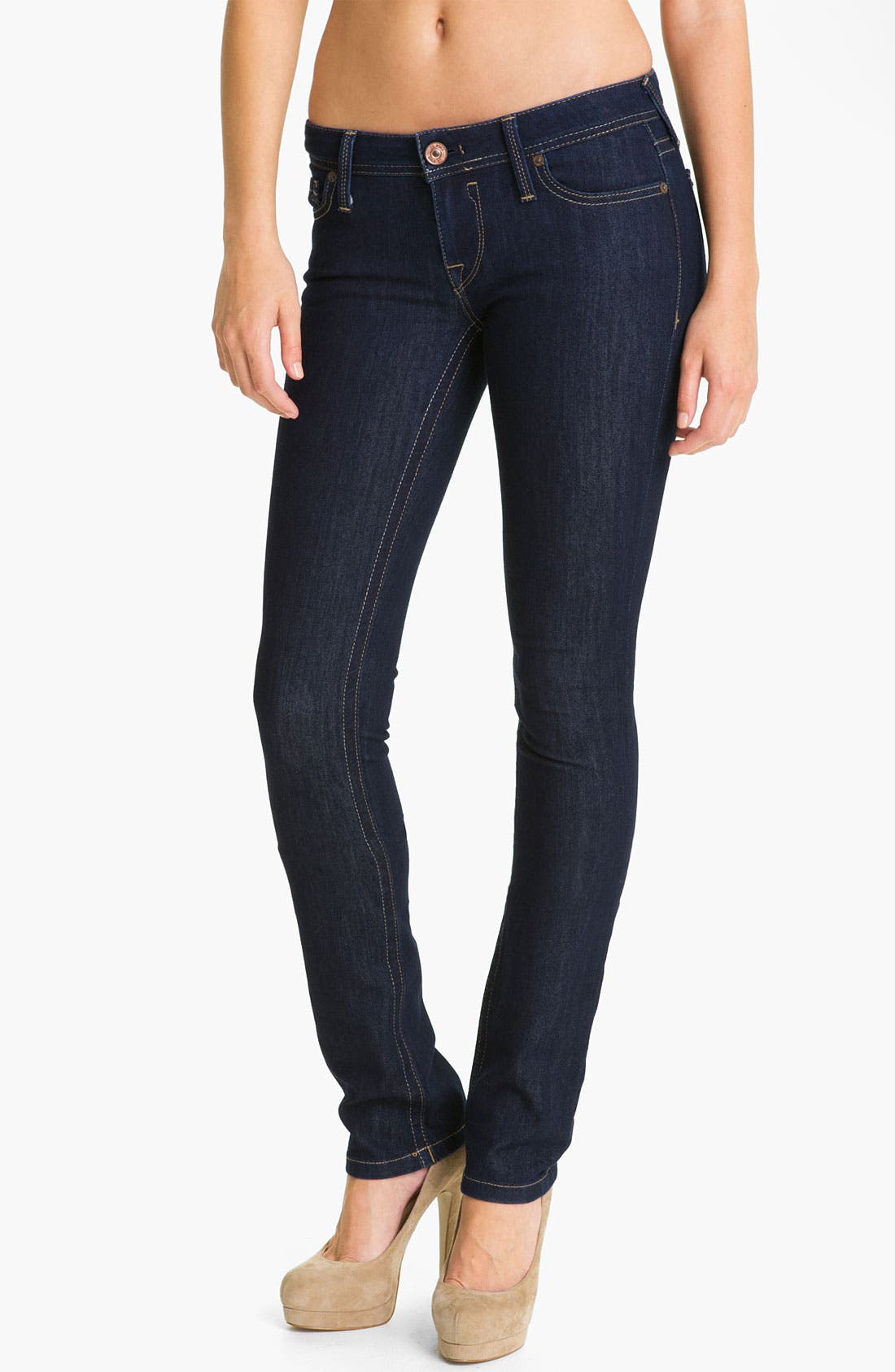 Main Image - DL1961 'Kate' X-Fit Stretch Denim Slim Straight Leg Jeans (Twilight Wash)