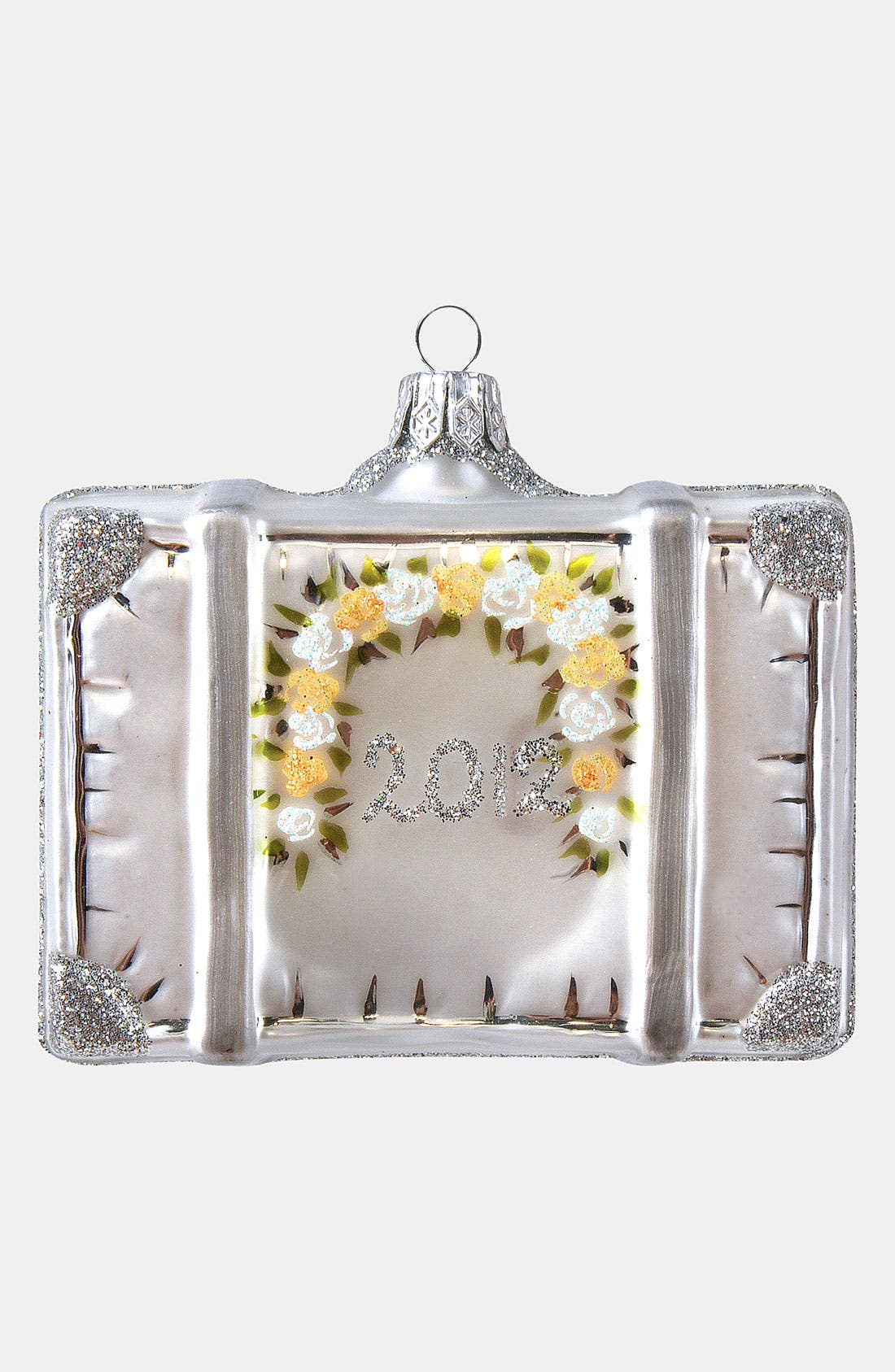 Alternate Image 2  - Nordstrom at Home 'Married 2012' Glass Suitcase Ornament