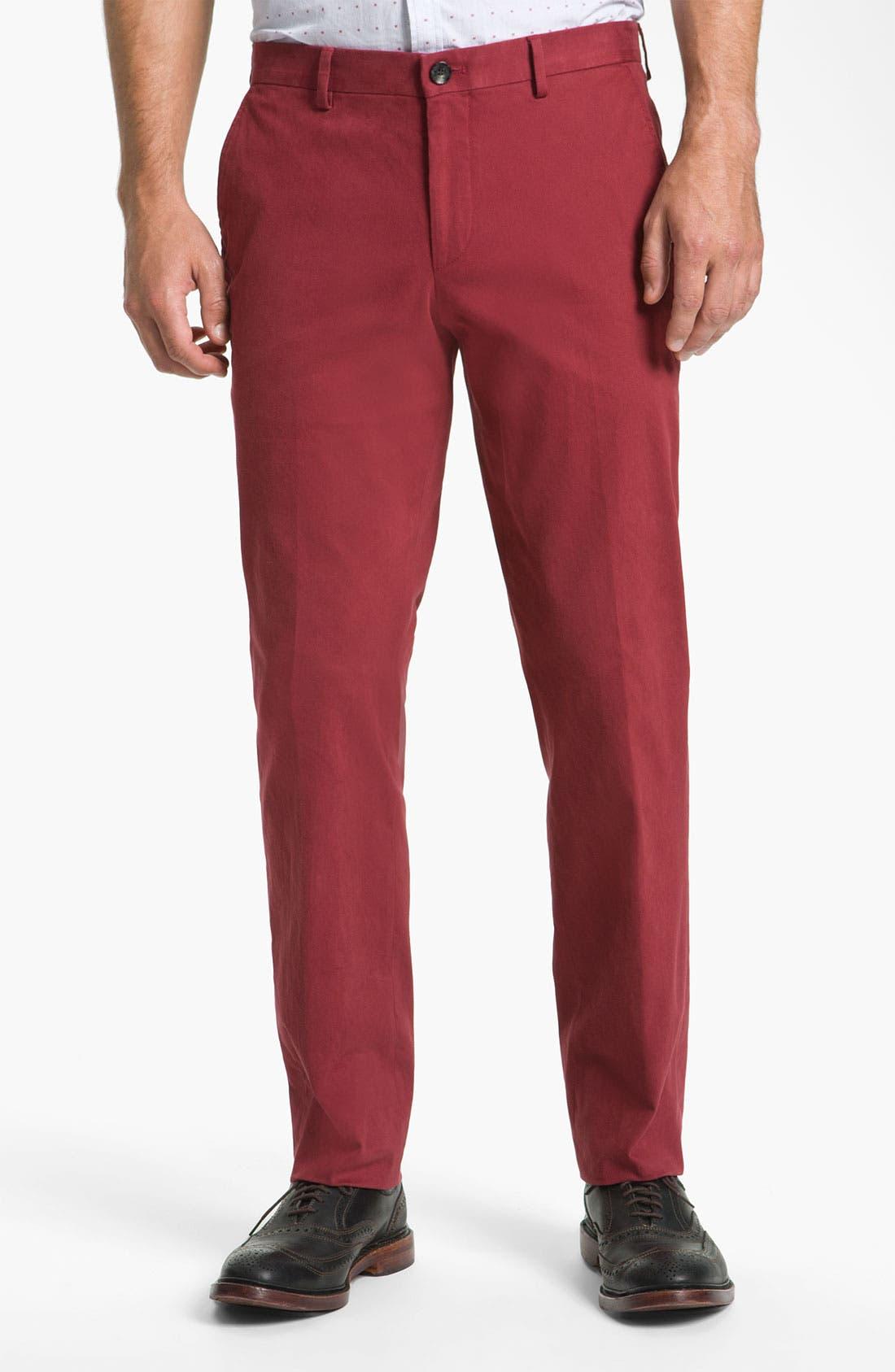 Alternate Image 1 Selected - BOSS Black Field Jacket & Twill Trousers