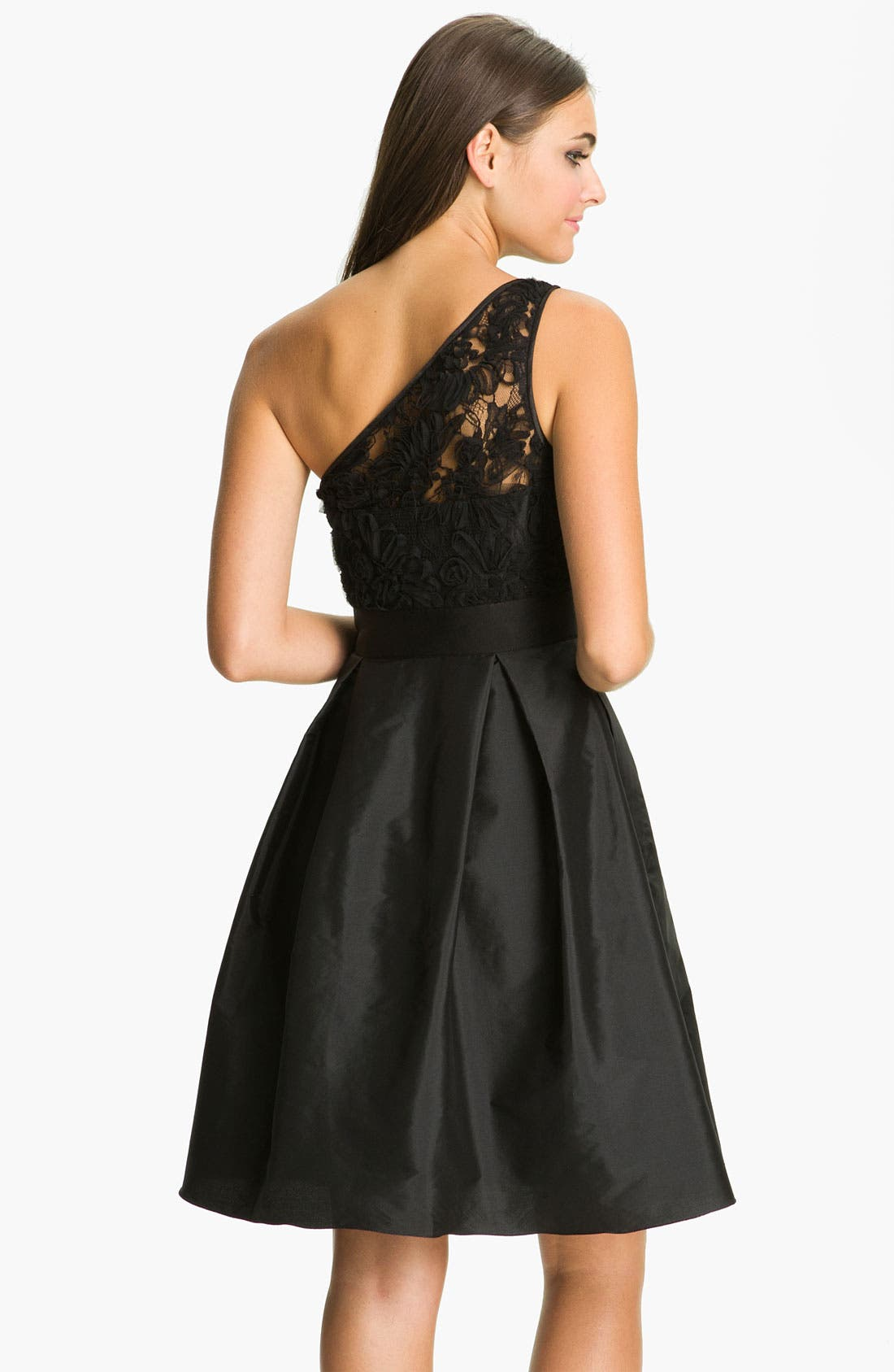 Alternate Image 2  - ML Monique Lhuillier Bridesmaids One-Shoulder Lace & Taffeta Dress (Nordstrom Exclusive)