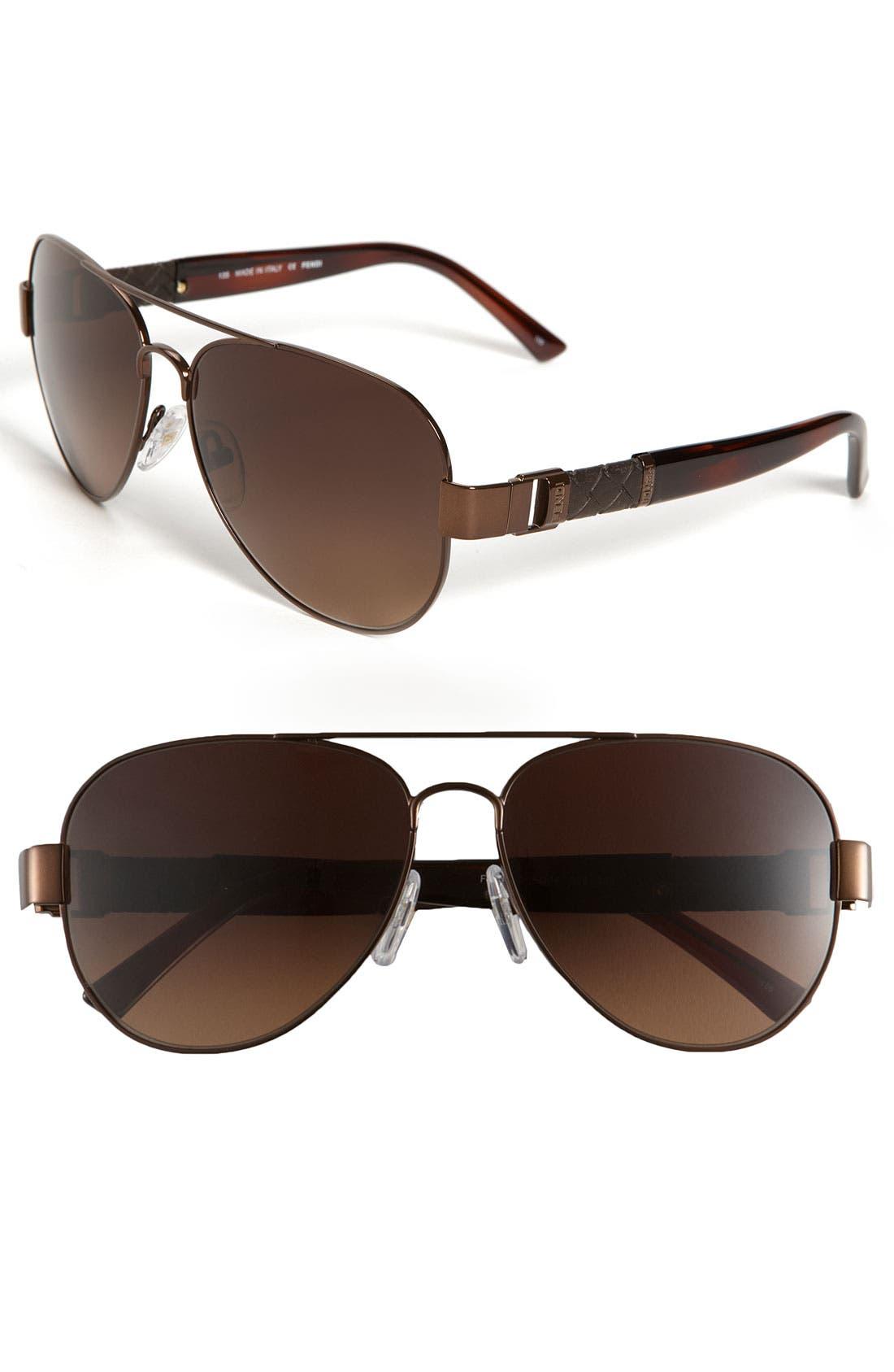 Alternate Image 1 Selected - Fendi Metal Aviator Sunglasses