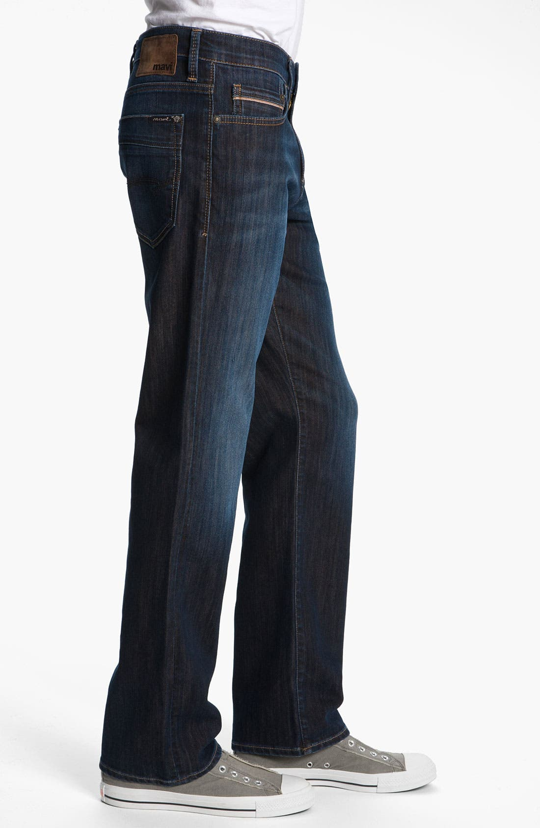 Alternate Image 3  - Mavi Jeans 'Matt' Relaxed Fit Jeans (Dark Kensington)