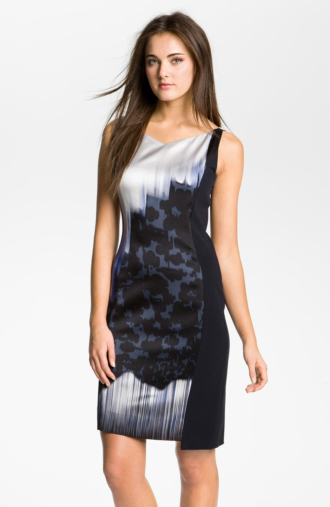 Alternate Image 1 Selected - Elie Tahari 'Margie' Print Charmeuse Sheath Dress