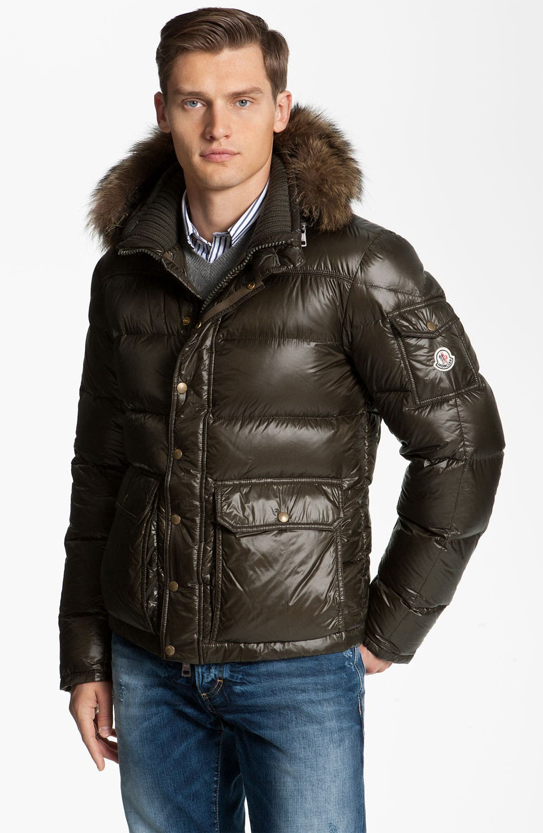 Main Image - Moncler 'Hubert' Quilted Parka