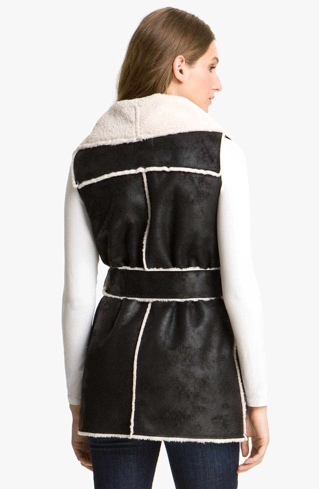 Alternate Image 2  - Mcginn Belted Faux Shearling Vest