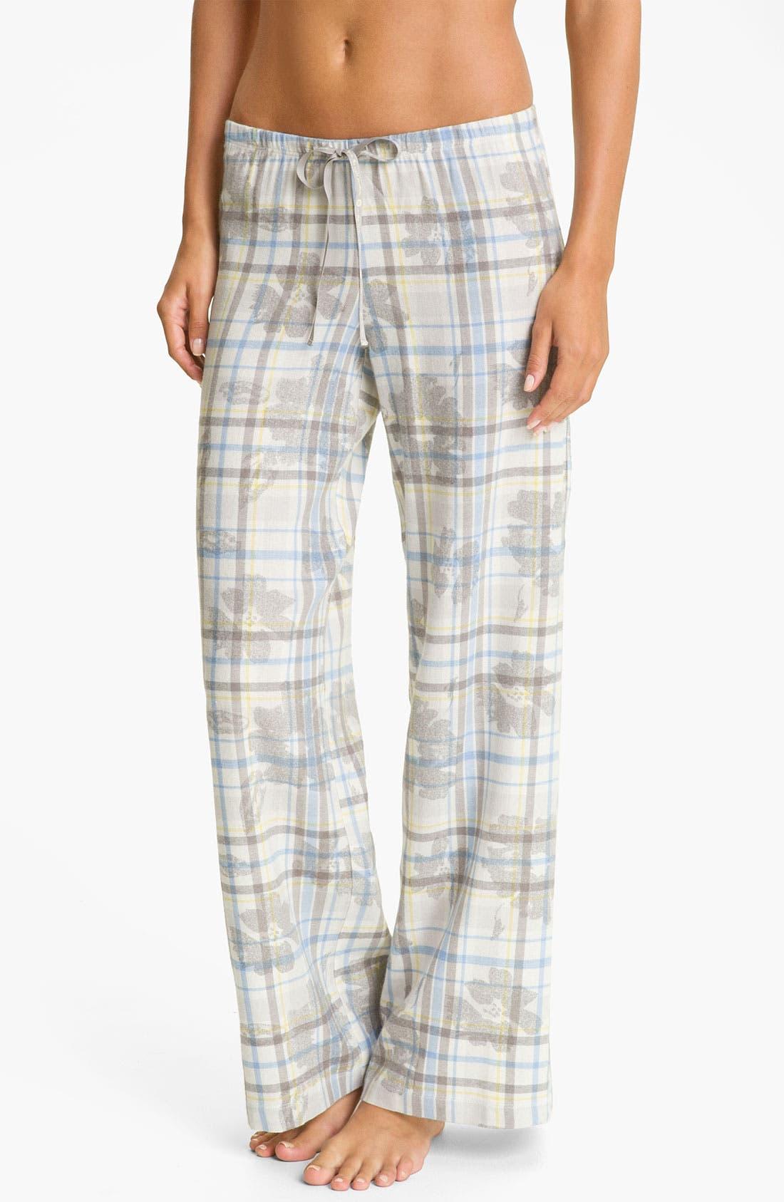 Alternate Image 1 Selected - Hue 'Cassie Floral' Pajama Pants