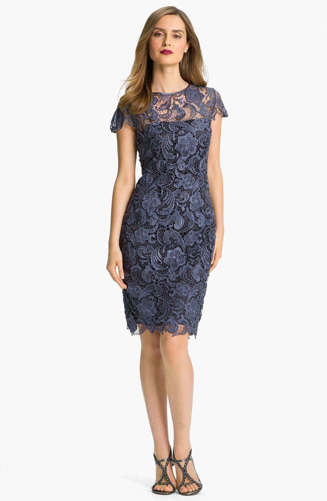 Alternate Image 3  - Patra Crocheted Venise Lace Sheath Dress