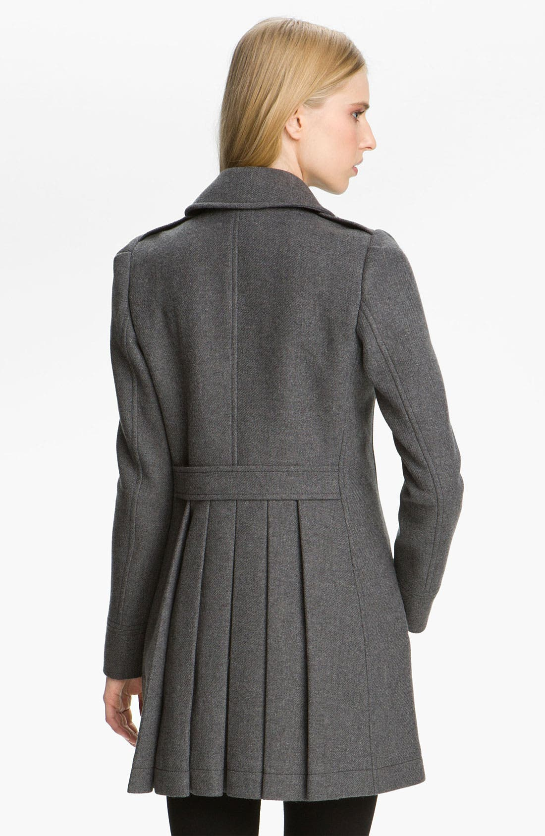 Alternate Image 2  - Burberry Brit Wool Blend Coat
