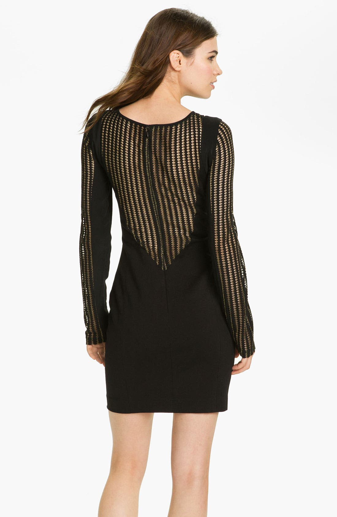 Alternate Image 2  - Rebecca Minkoff 'Lilia' Mesh Panel Sweetheart Dress