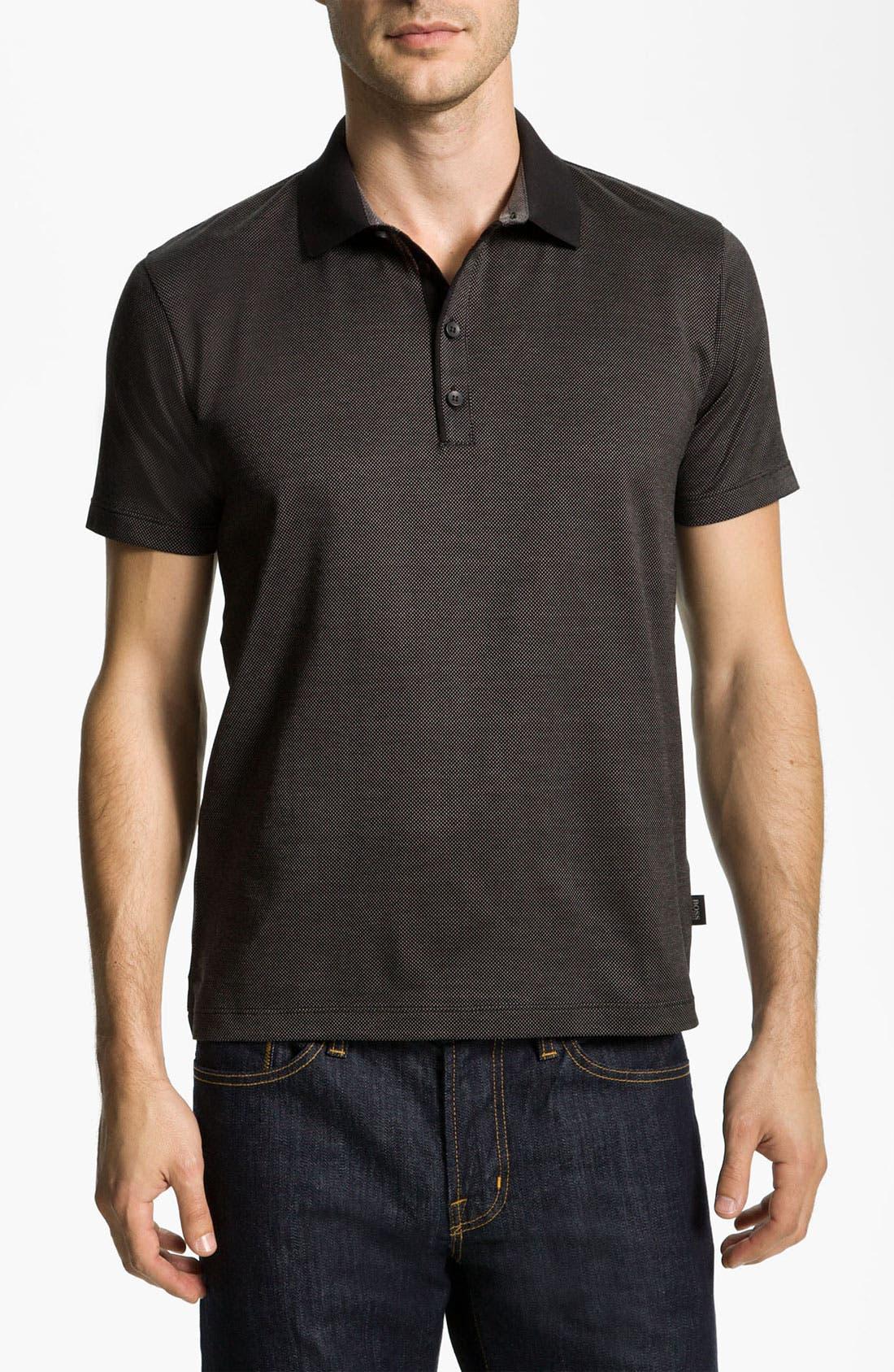Alternate Image 1 Selected - BOSS Black 'Genova 19' Slim Fit Polo
