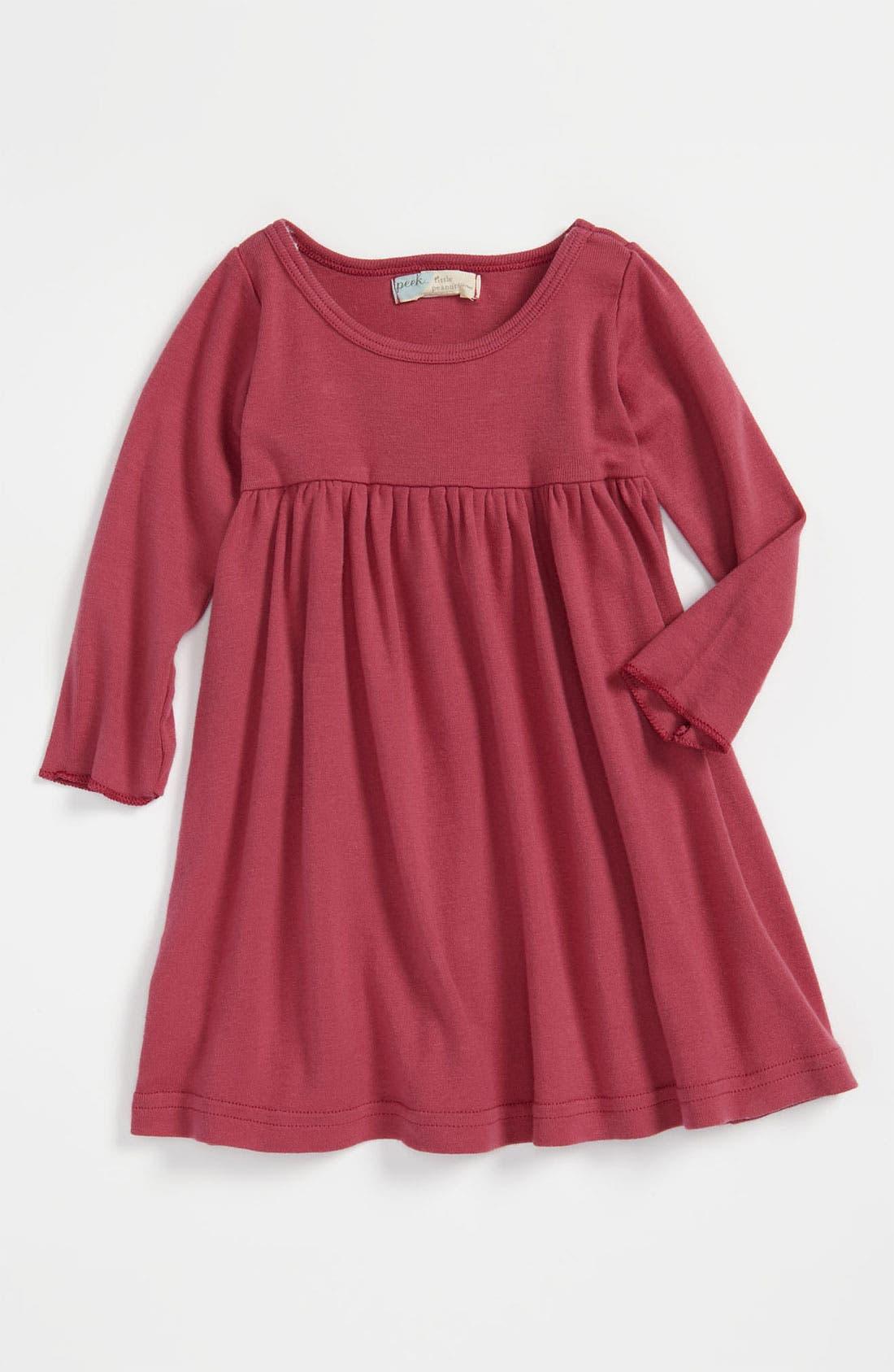 Alternate Image 1 Selected - Peek Long Sleeve Dress (Infant)
