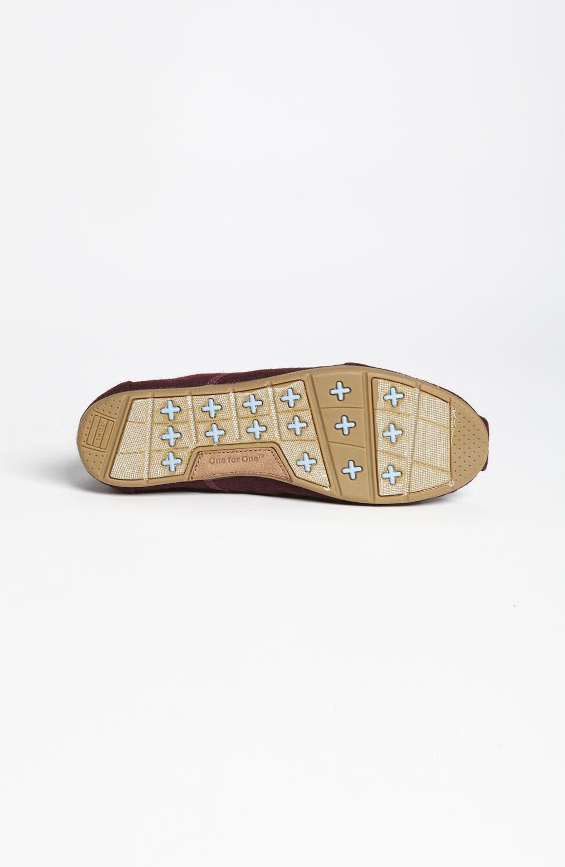 Alternate Image 4  - TOMS 'Cordones' Woolen Slip-On (Women)