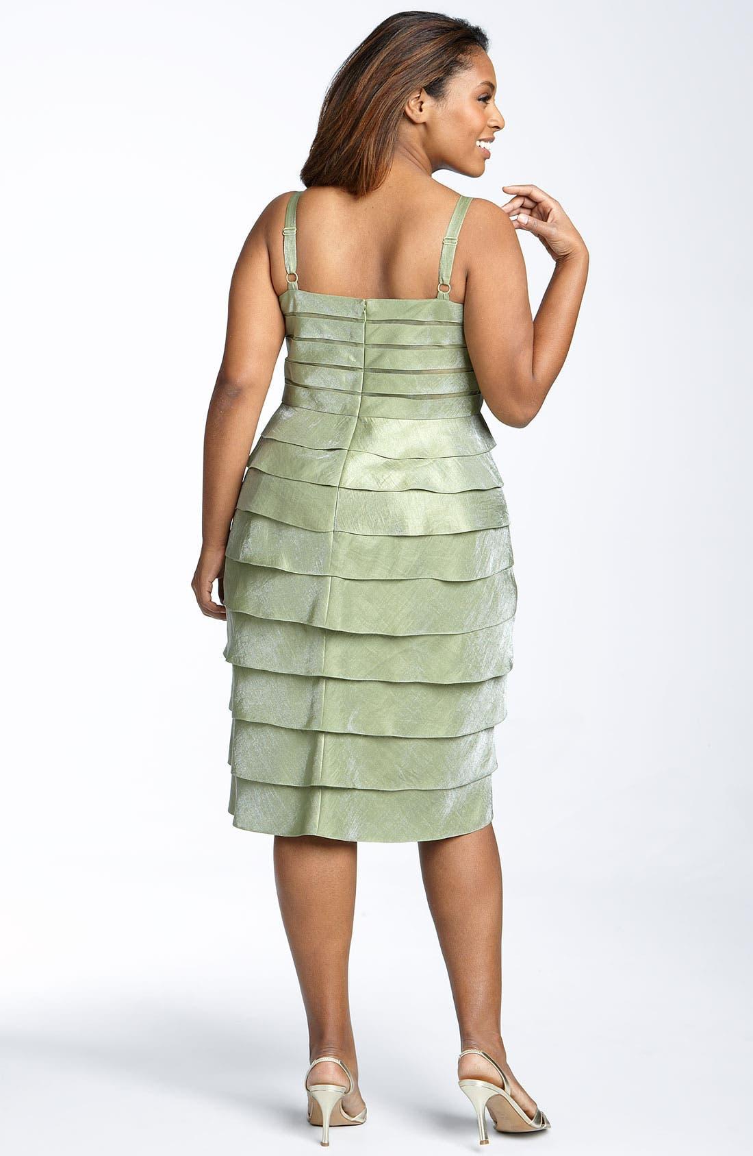 Alternate Image 2  - Adrianna Papell Evening Shutter Pleat Dress with Bolero Jacket (Plus)