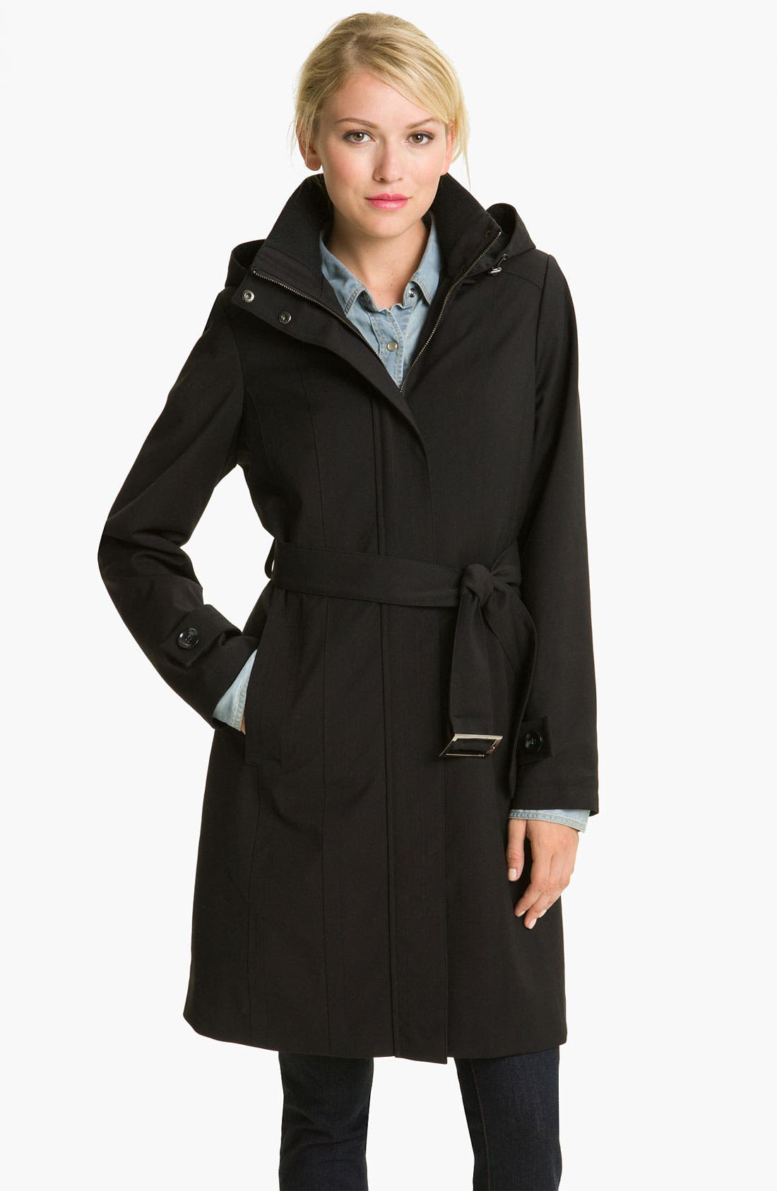 Alternate Image 1 Selected - Kristen Blake Raincoat with Detachable Hood