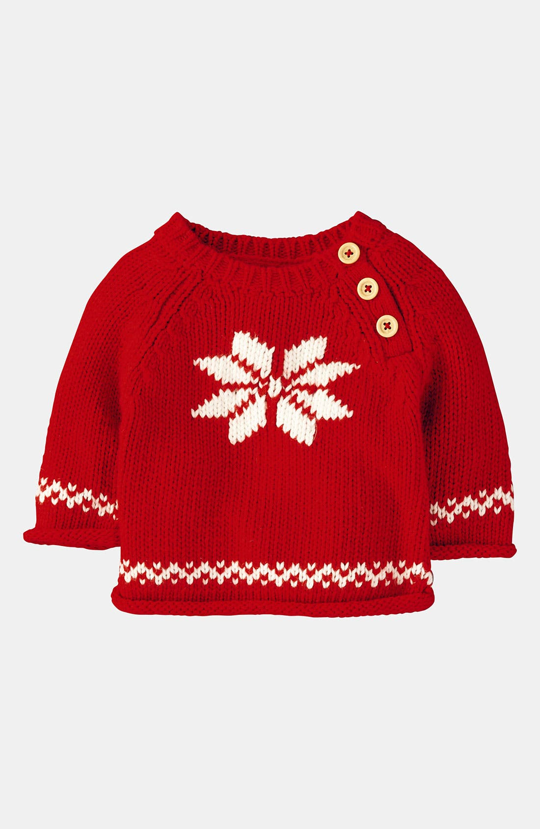Alternate Image 1 Selected - Mini Boden 'Winter' Sweater (Infant)